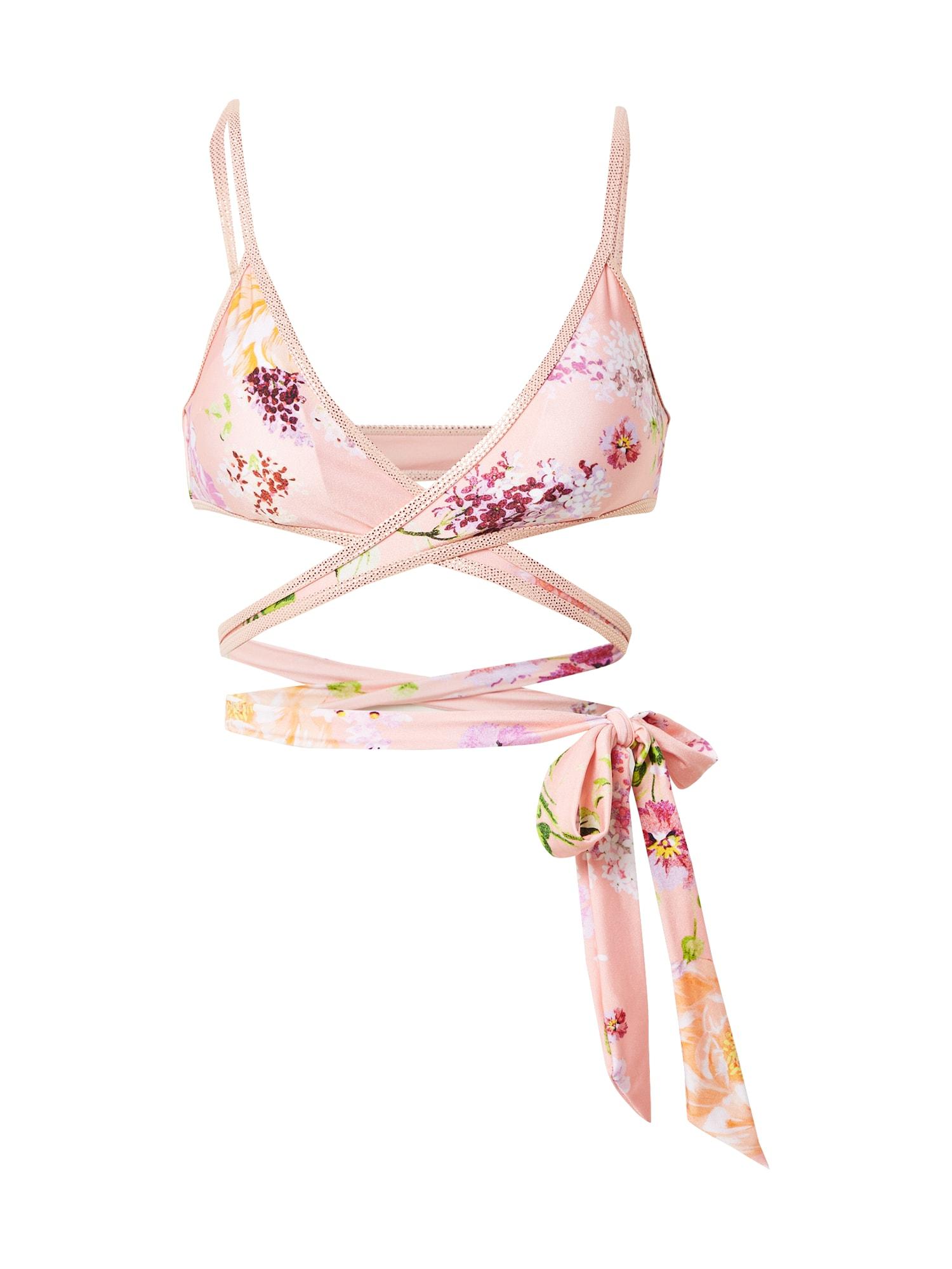River Island Bikinio viršutinė dalis rožių spalva / pastelinė violetinė / šviesiai žalia / smėlio spalva / raudona