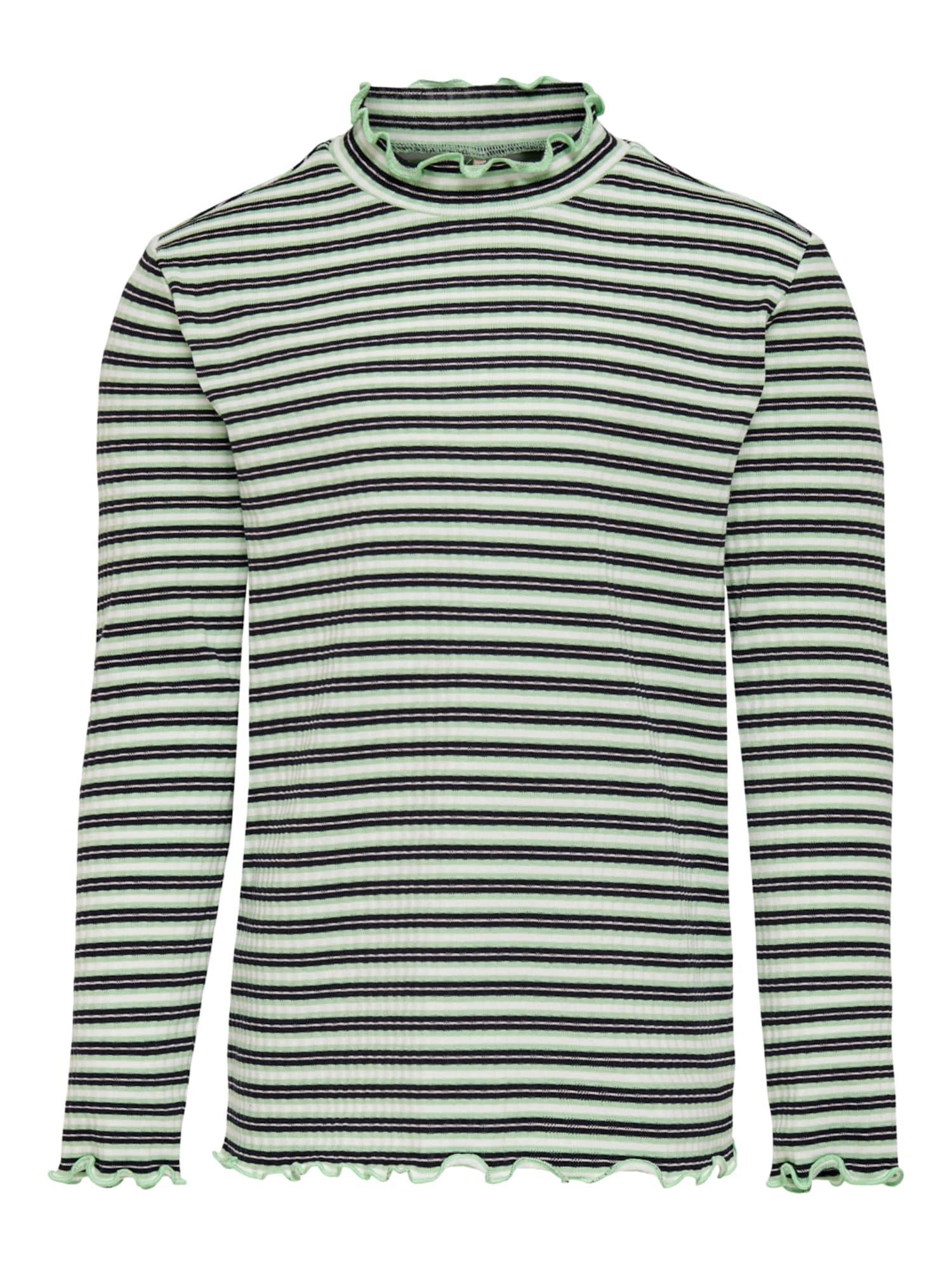 KIDS ONLY Marškinėliai balta / juoda / žalia