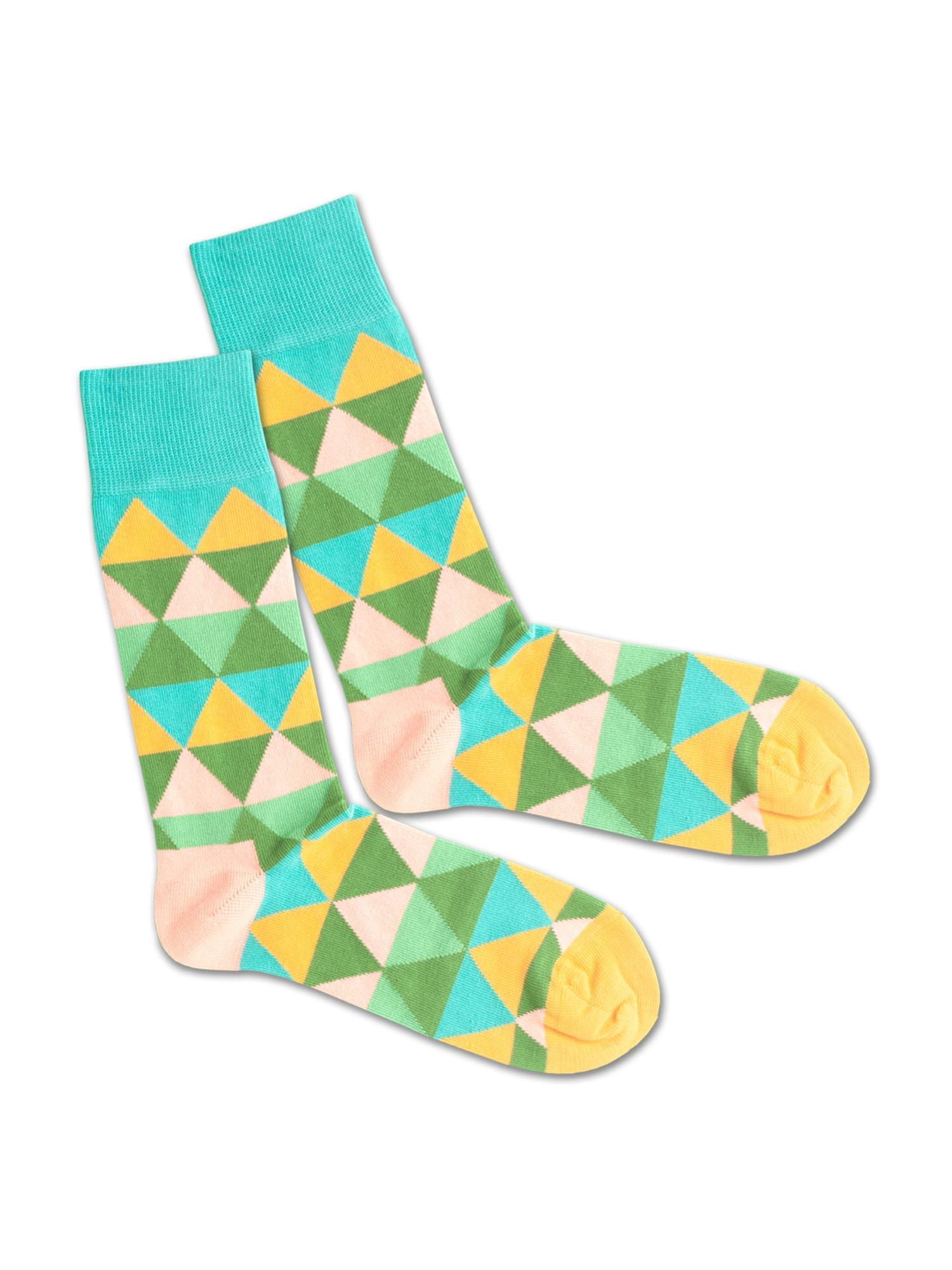 DillySocks Ponožky 'Triangle Summer'  mix barev