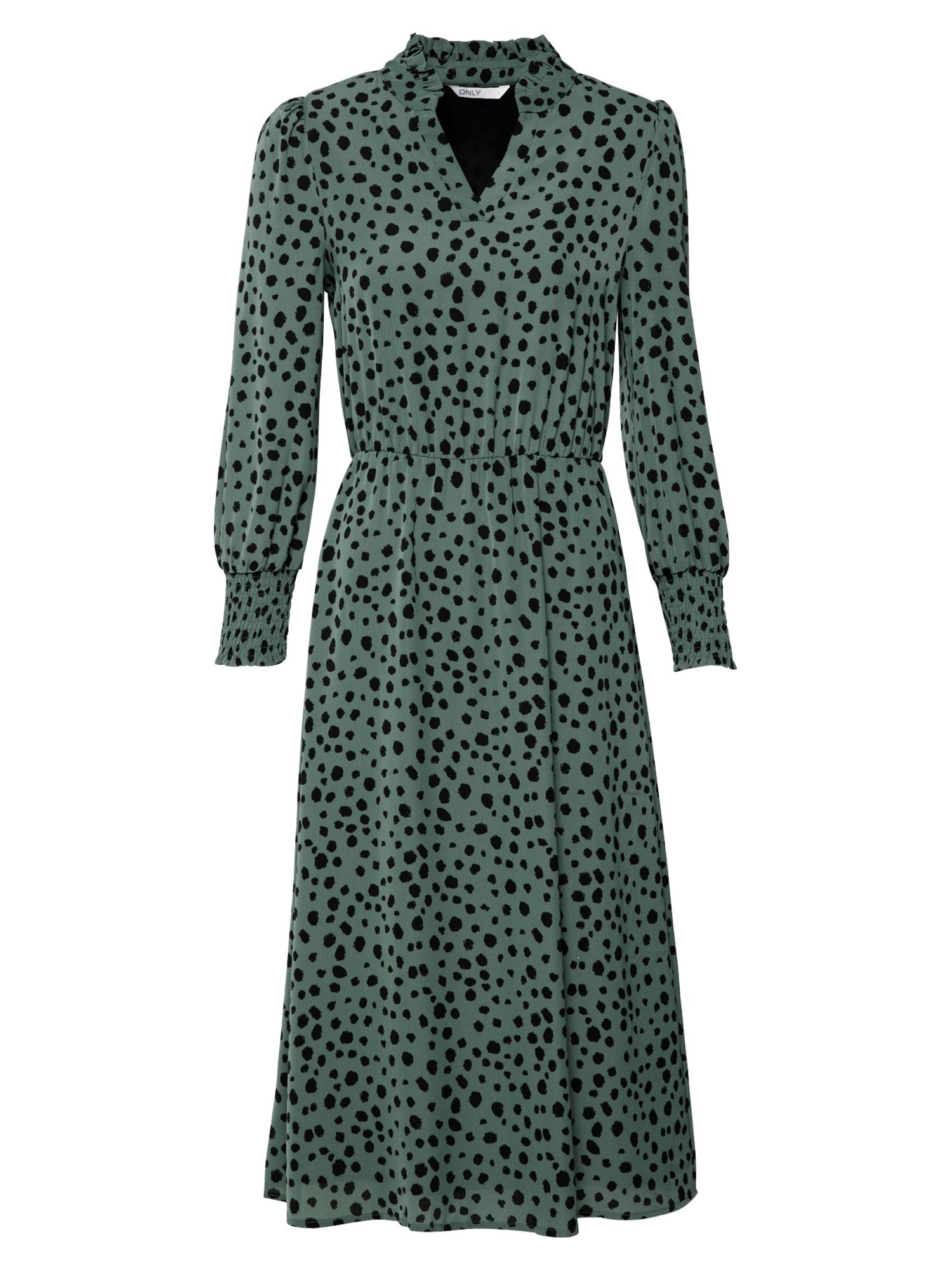 ONLY Šaty 'JENNA'  zelená / černá