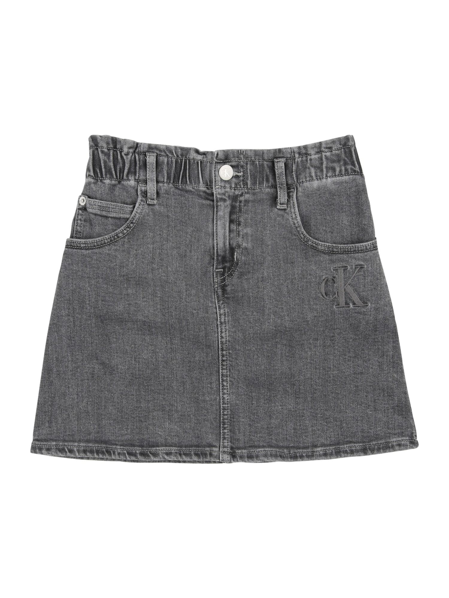 Calvin Klein Jeans Sijonas 'ELAS ALINE' šviesiai pilka