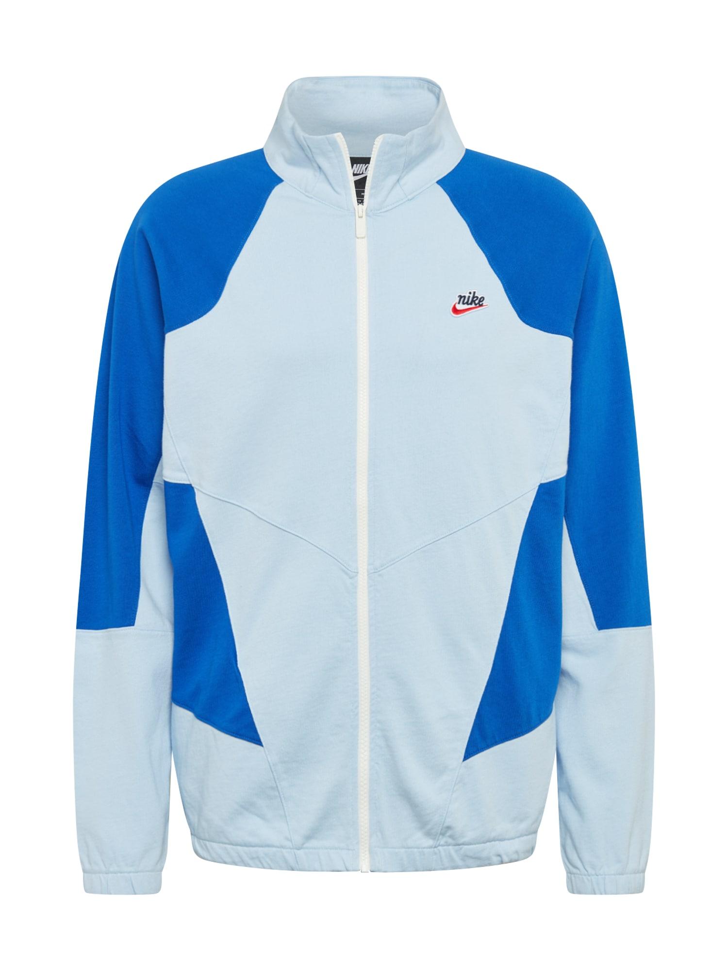 Nike Sportswear Demisezoninė striukė mėlyna / šviesiai mėlyna