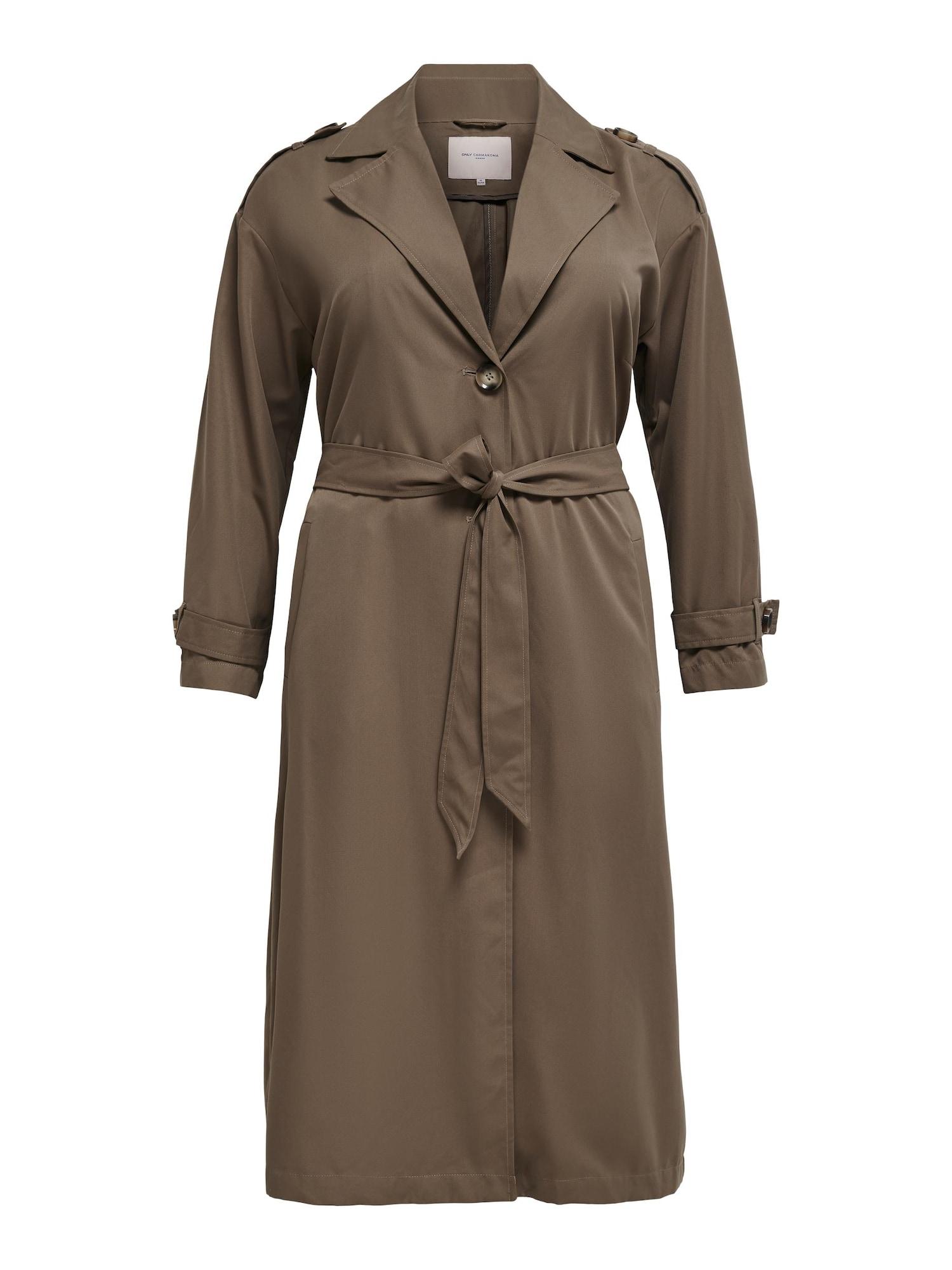 ONLY Carmakoma Demisezoninis paltas ruda