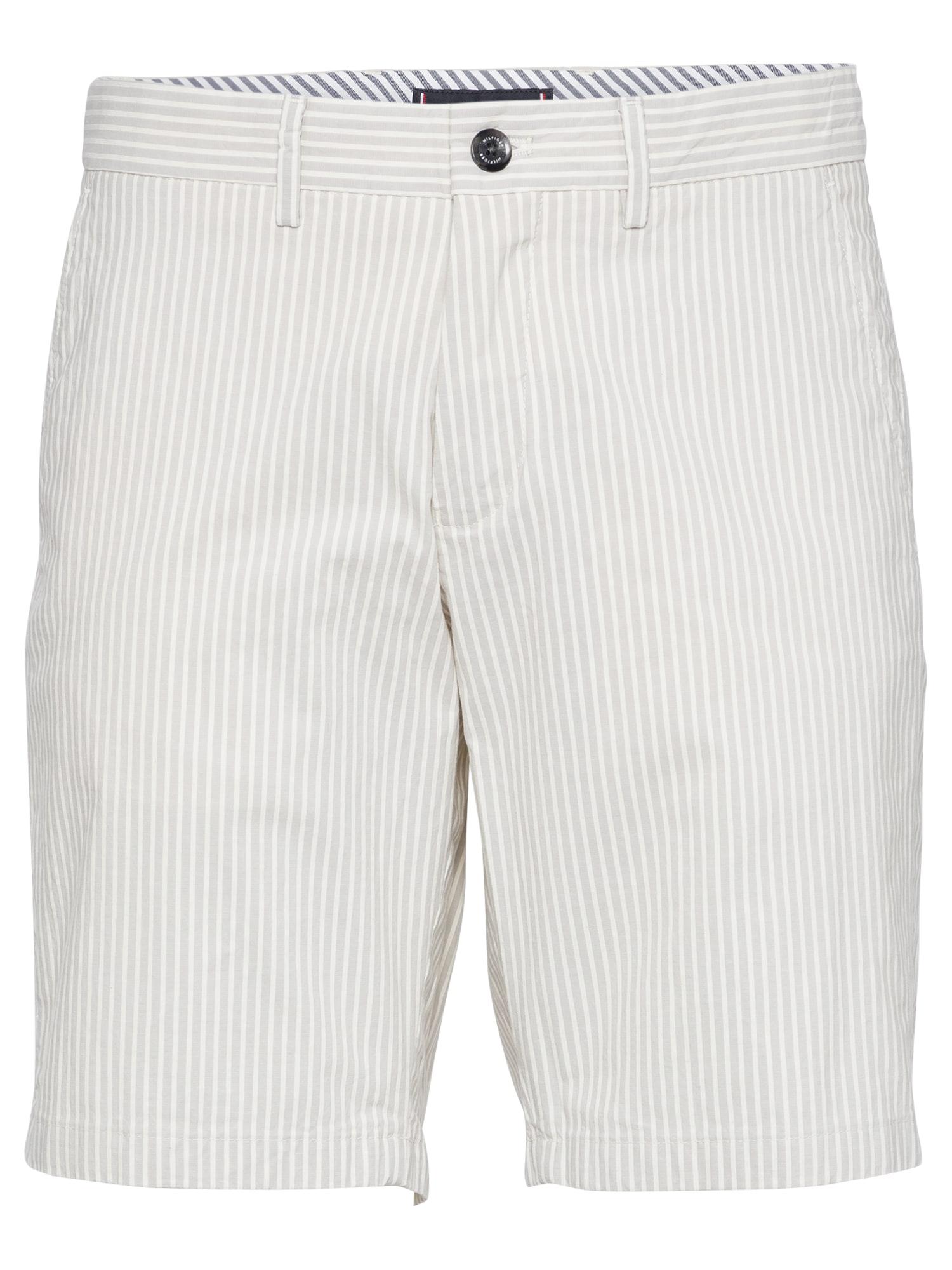 "TOMMY HILFIGER ""Chino"" stiliaus kelnės 'BROOKLYN' šviesiai pilka / balta"