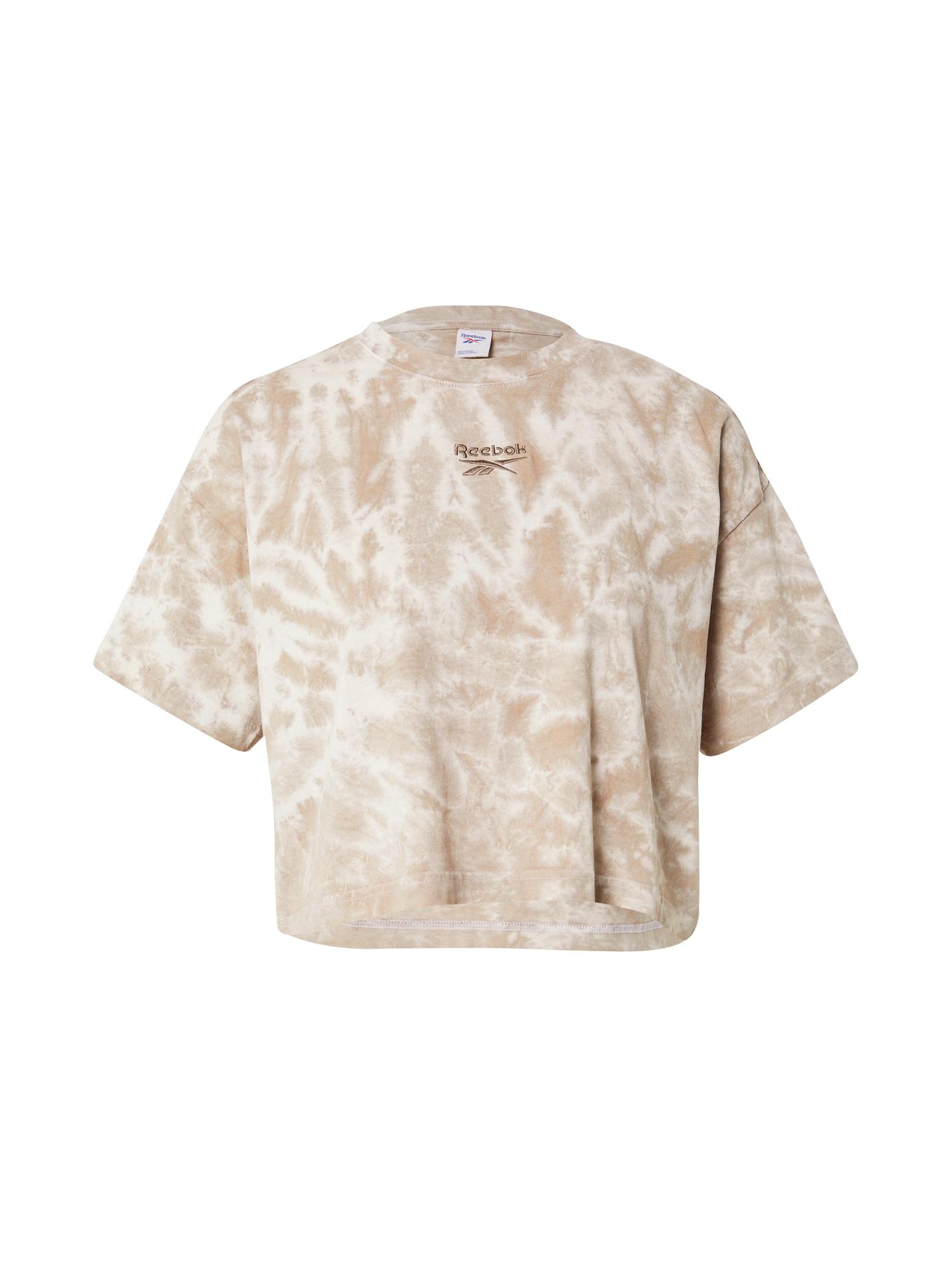 Reebok Classic Marškinėliai rusvai pilka / balta