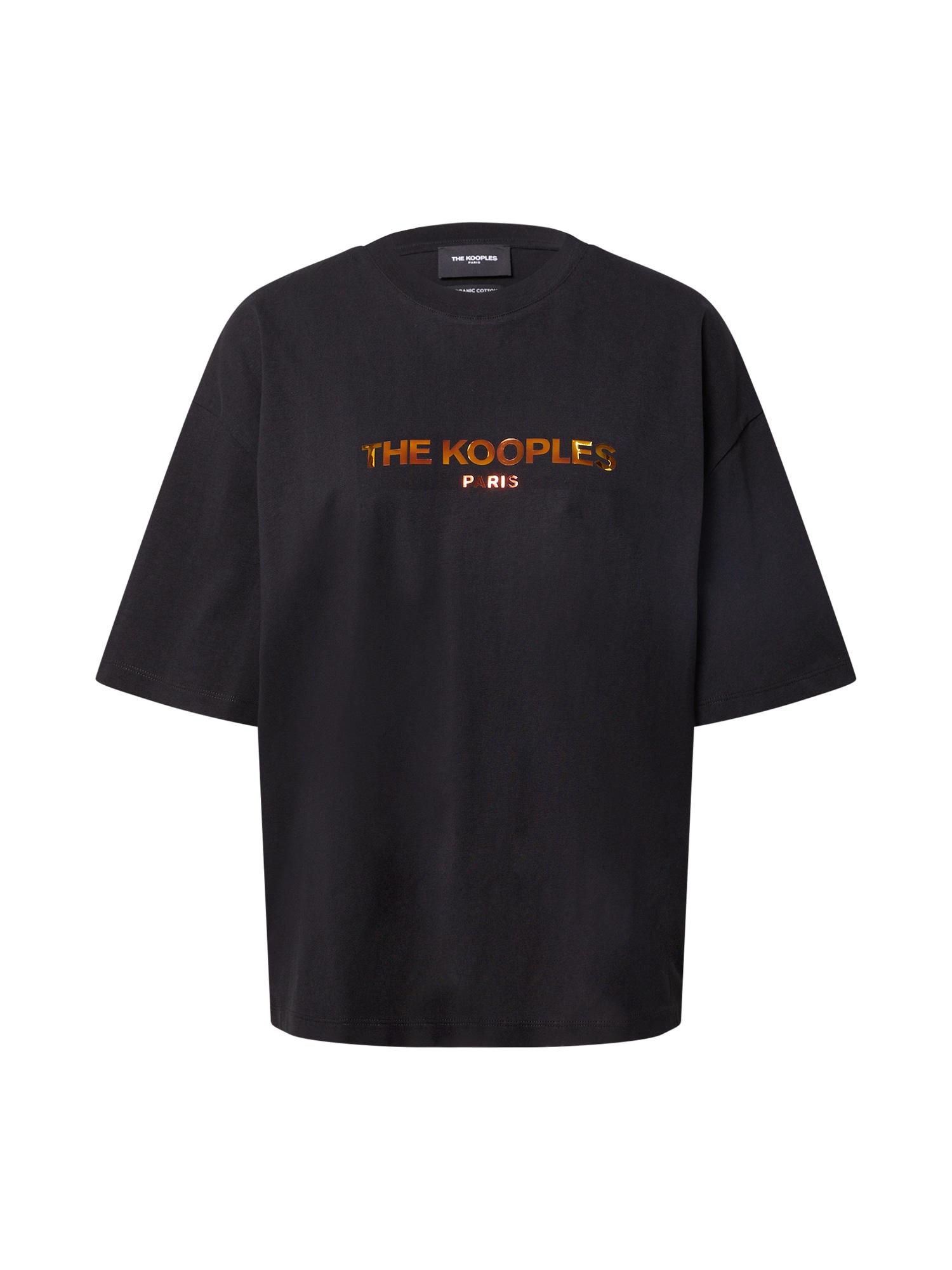 The Kooples Marškinėliai juoda / auksas