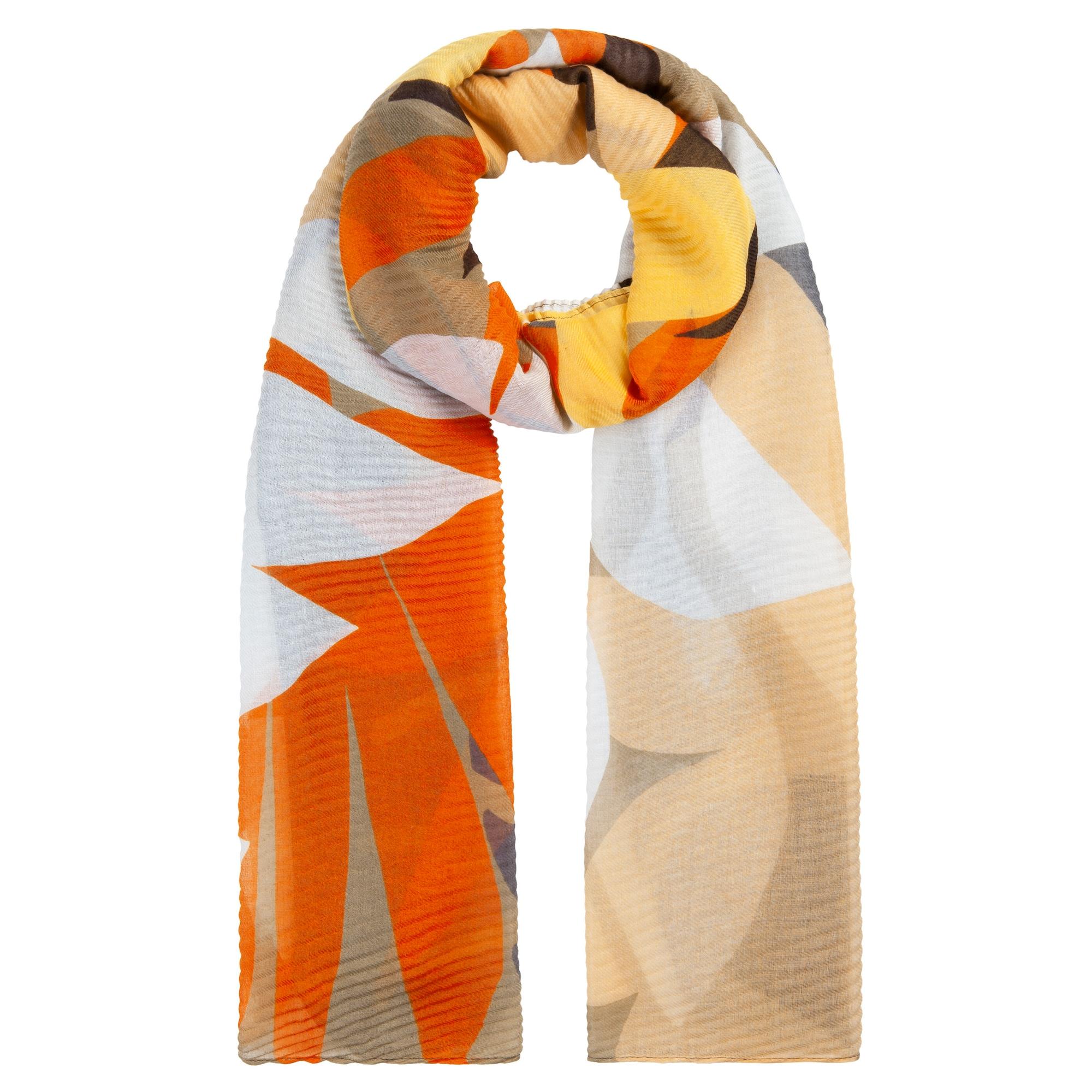 CODELLO Šalikas šviesiai ruda / oranžinė / geltona / pilka