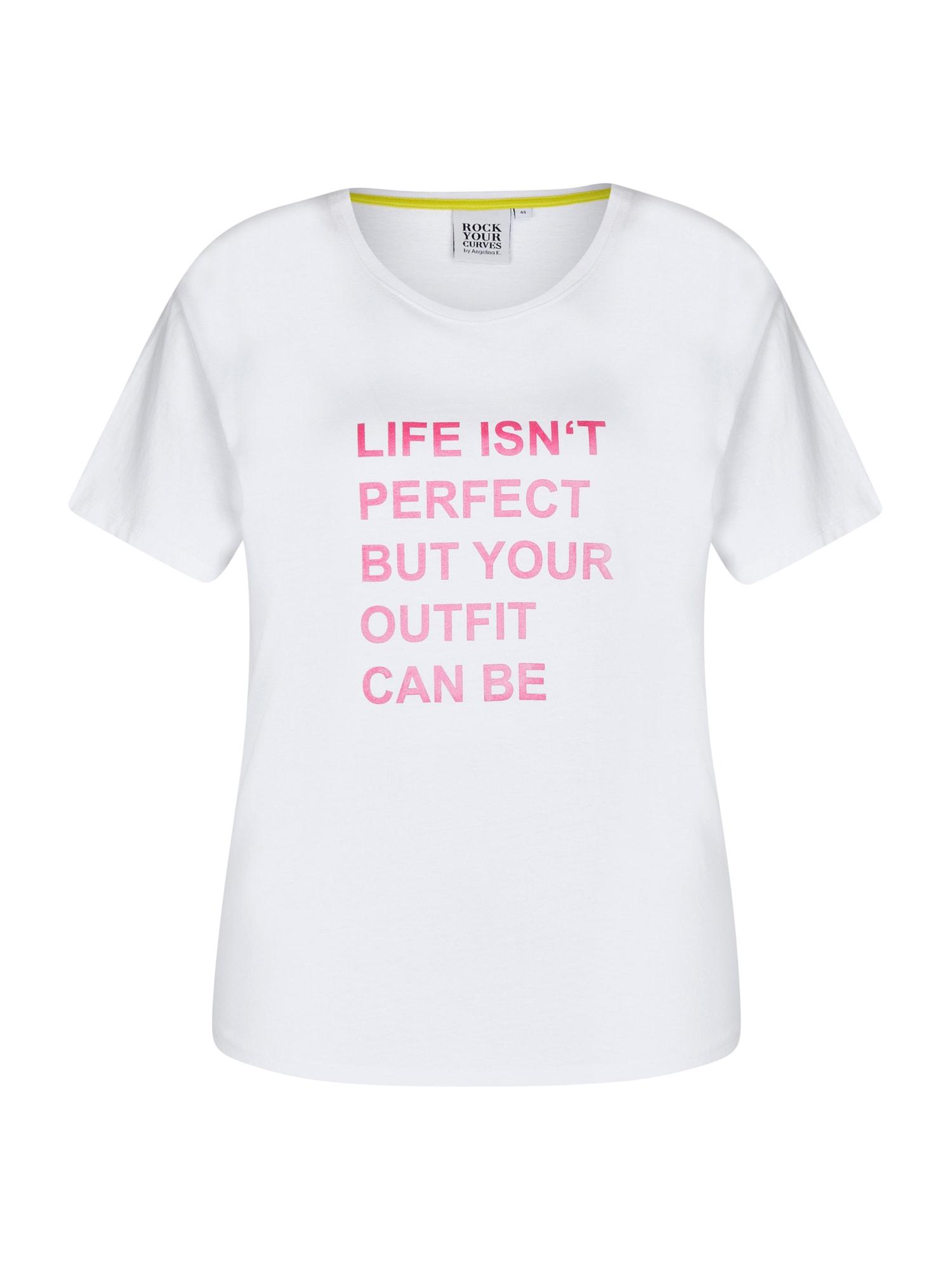 Rock Your Curves by Angelina K. Marškinėliai balta / rožinė