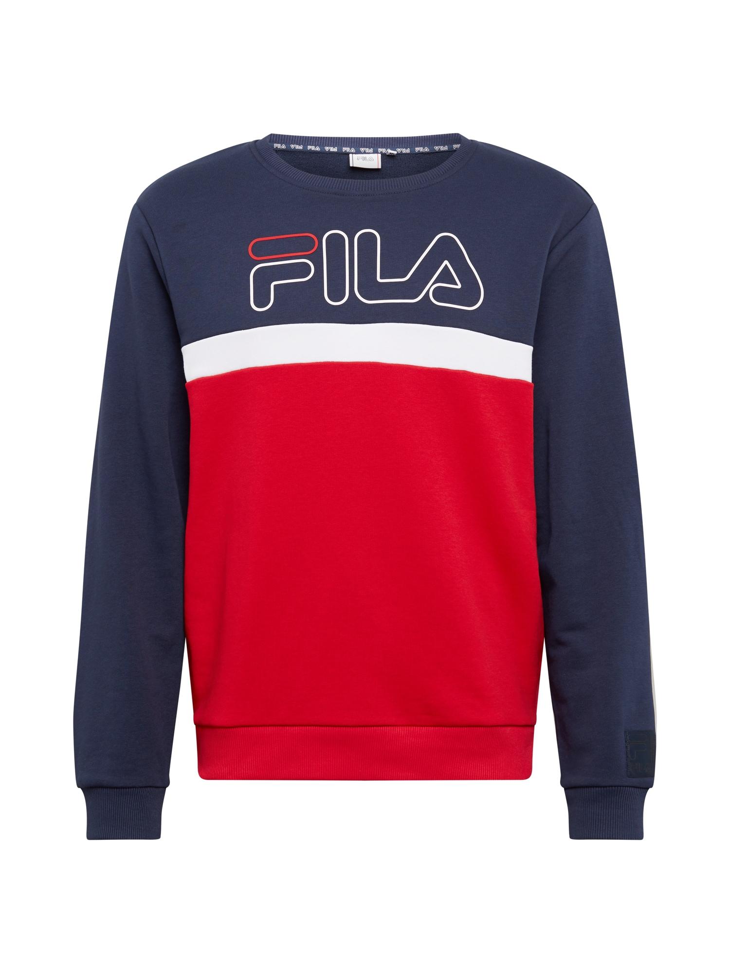 FILA Sportovní mikina 'LAURUS'  bílá / ohnivá červená / černá
