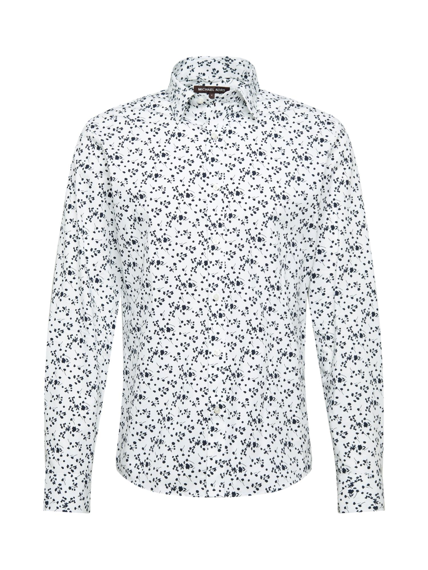 Michael Kors Marškiniai tamsiai mėlyna / balta