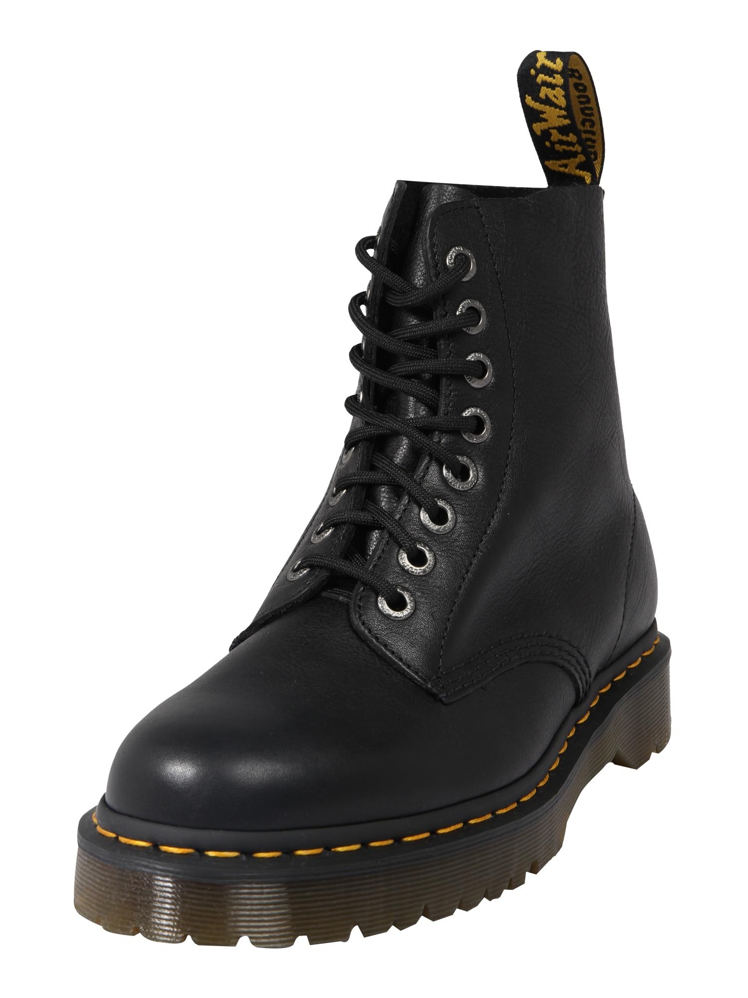 Dr. Martens Šněrovací boty 'Pascal'  černá / žlutá
