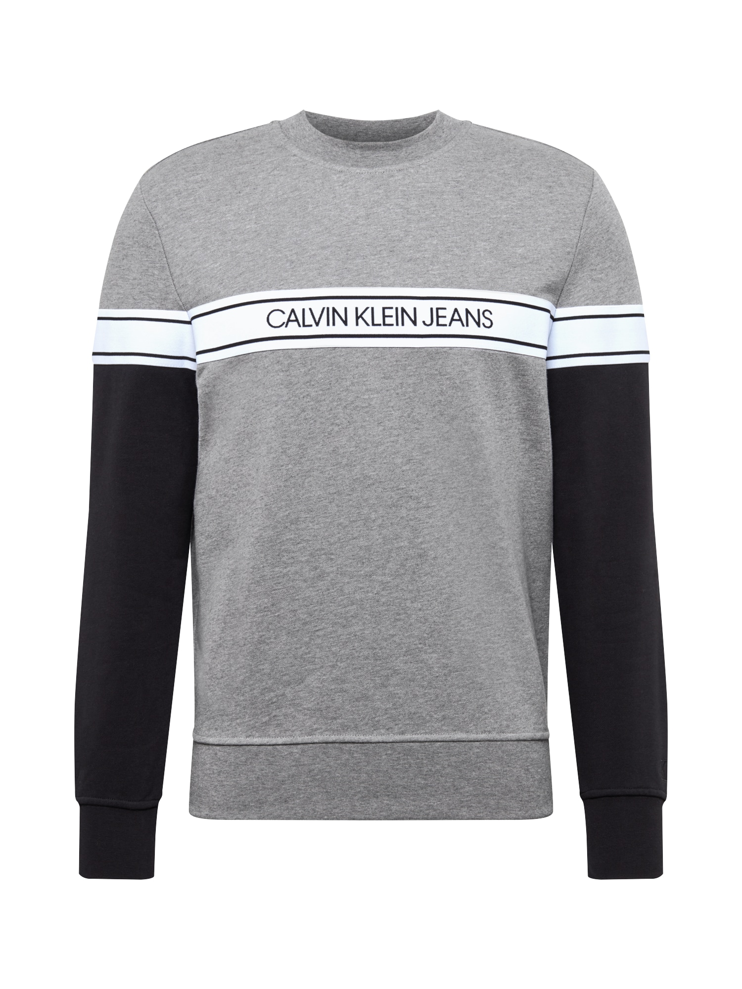 Calvin Klein Jeans Megztinis be užsegimo pilka / juoda / balta