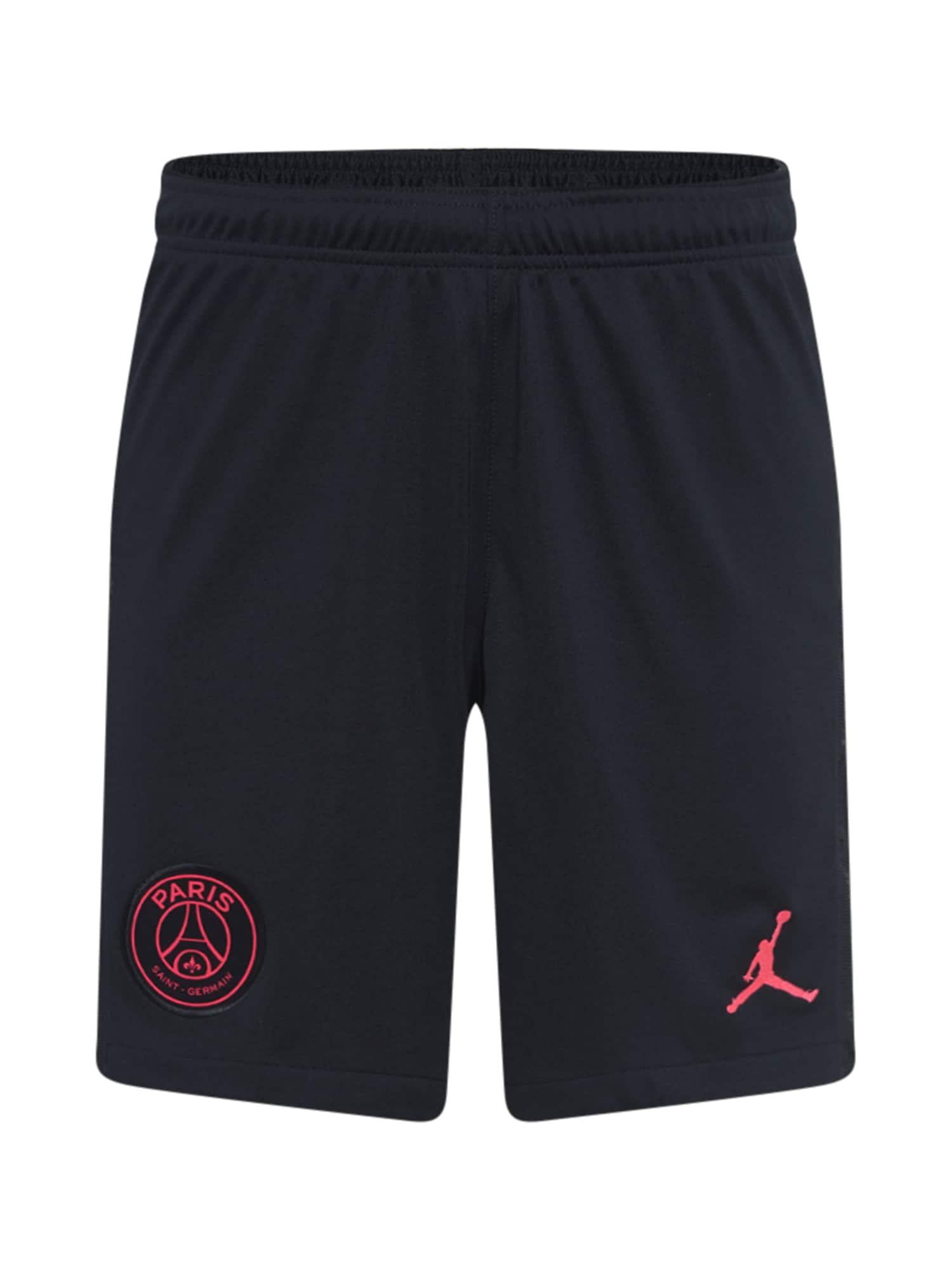 Jordan Sportovní kalhoty 'Paris Saint-Germain Stadium Fourth'  černá / světle růžová