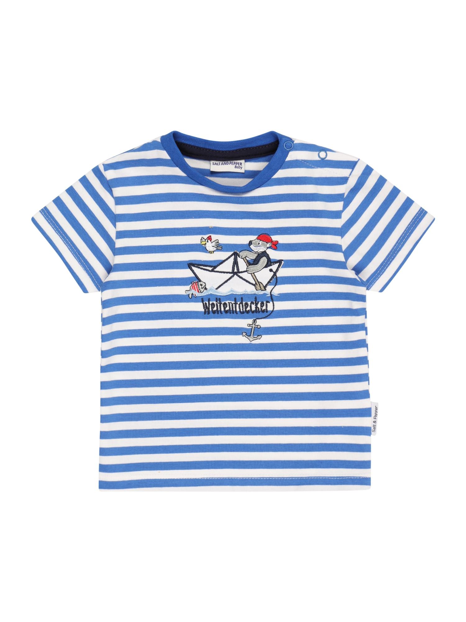 SALT AND PEPPER Marškinėliai dangaus žydra / balta / tamsiai mėlyna / raudona