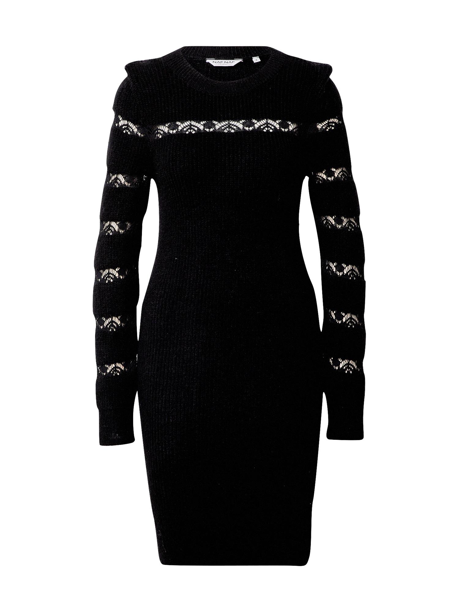 NAF NAF Megzta suknelė juoda