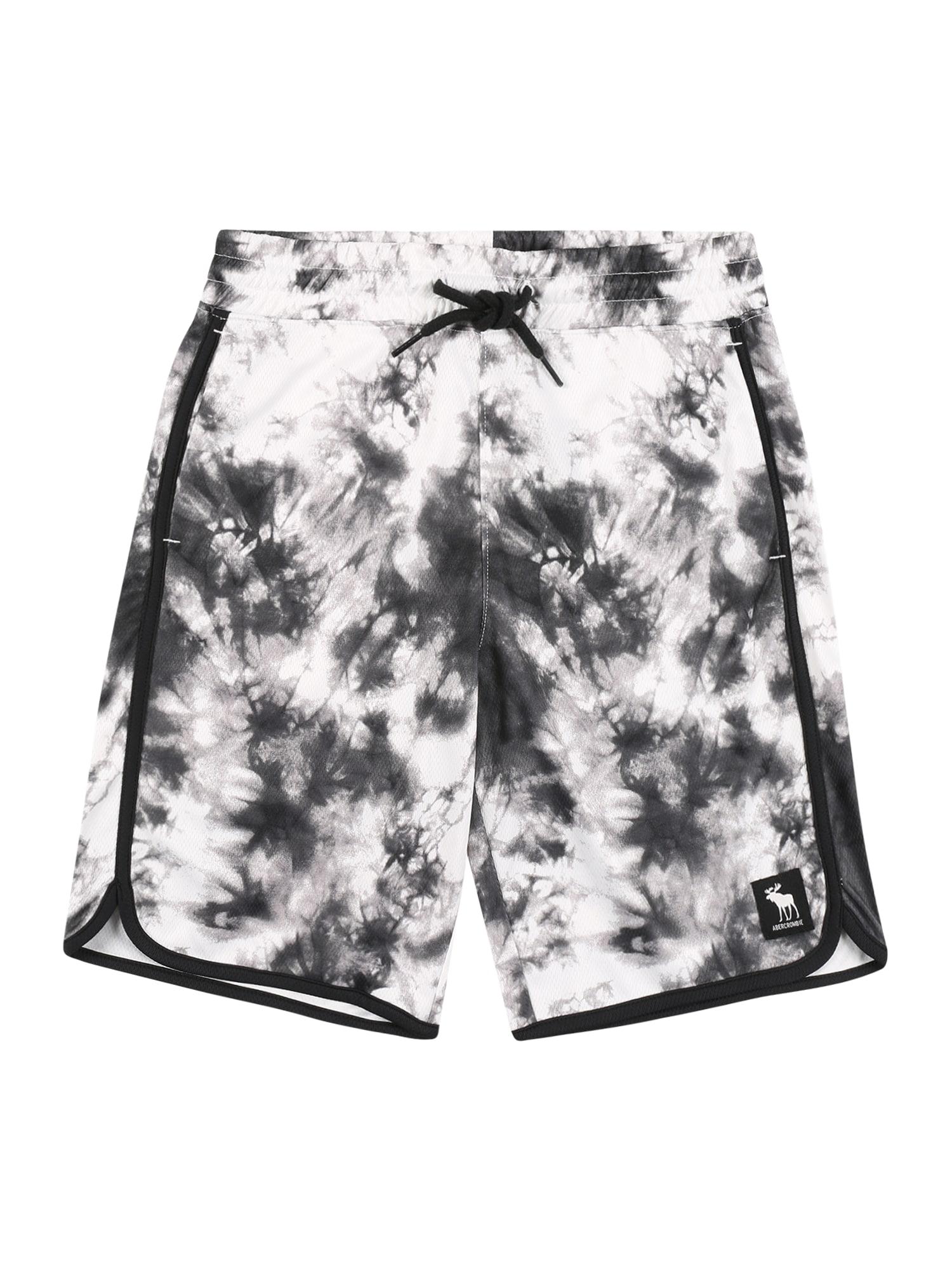 Abercrombie & Fitch Kelnės 'SPRING' juoda / balta