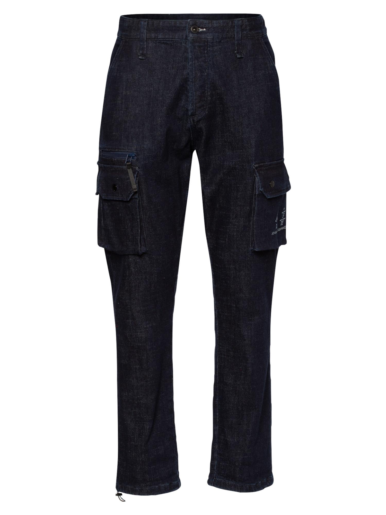 DENHAM Darbinio stiliaus džinsai tamsiai mėlyna