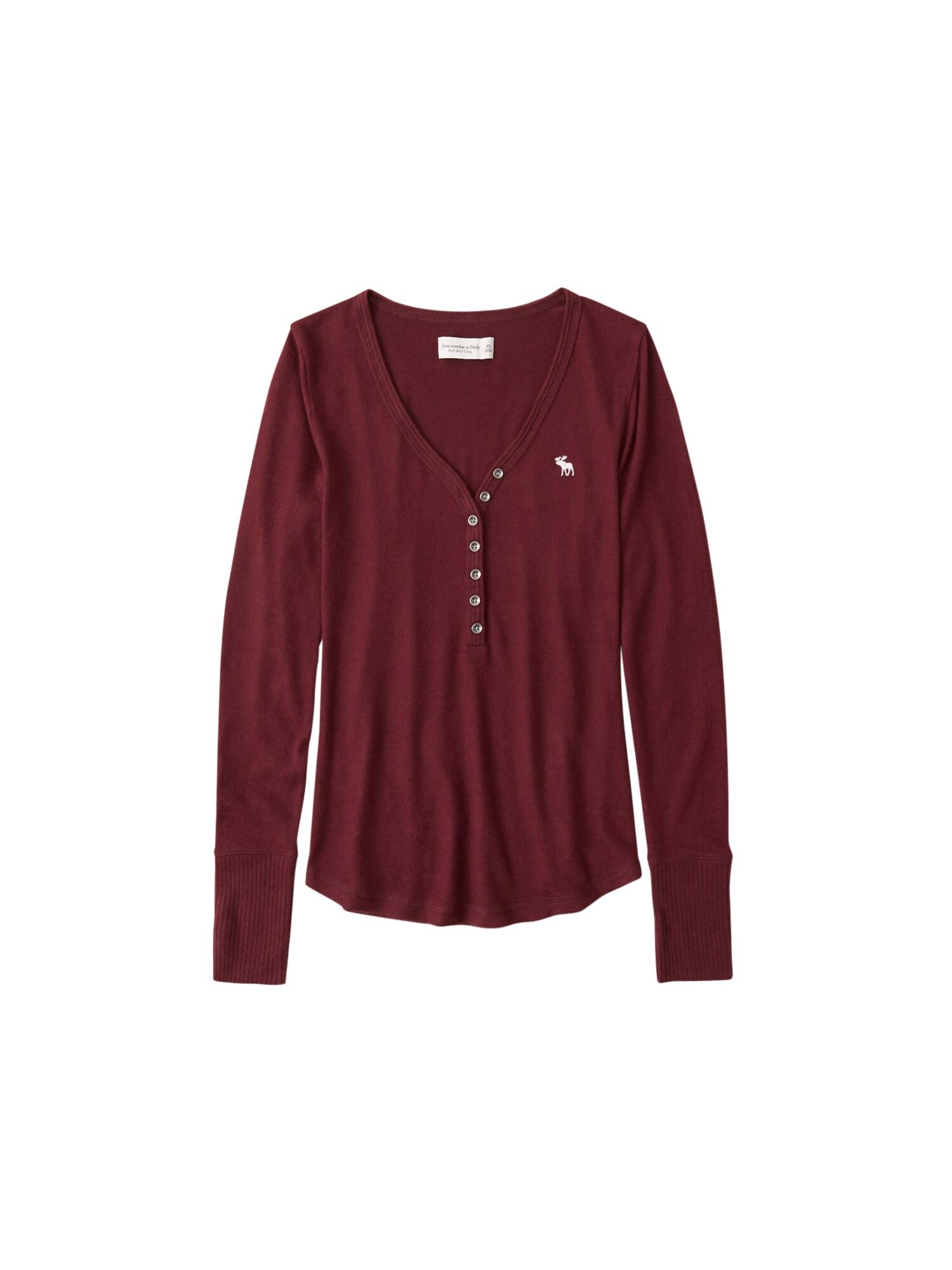 Abercrombie & Fitch Marškinėliai uogų spalva