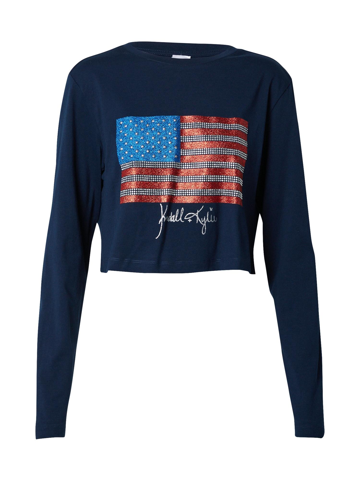 KENDALL + KYLIE Megztinis be užsegimo tamsiai mėlyna / raudona / mėlyna / sidabrinė