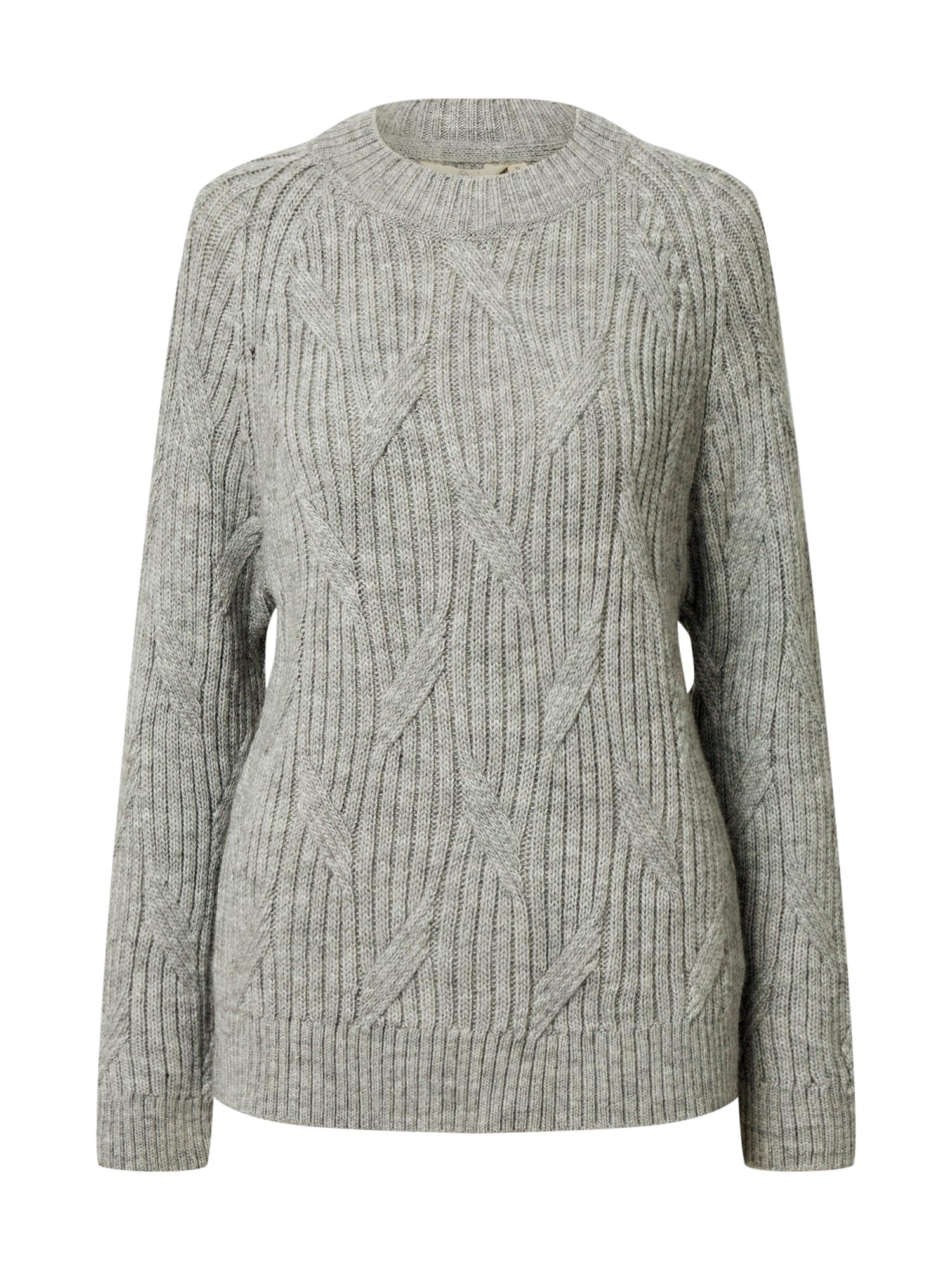 basic apparel Megztinis margai pilka