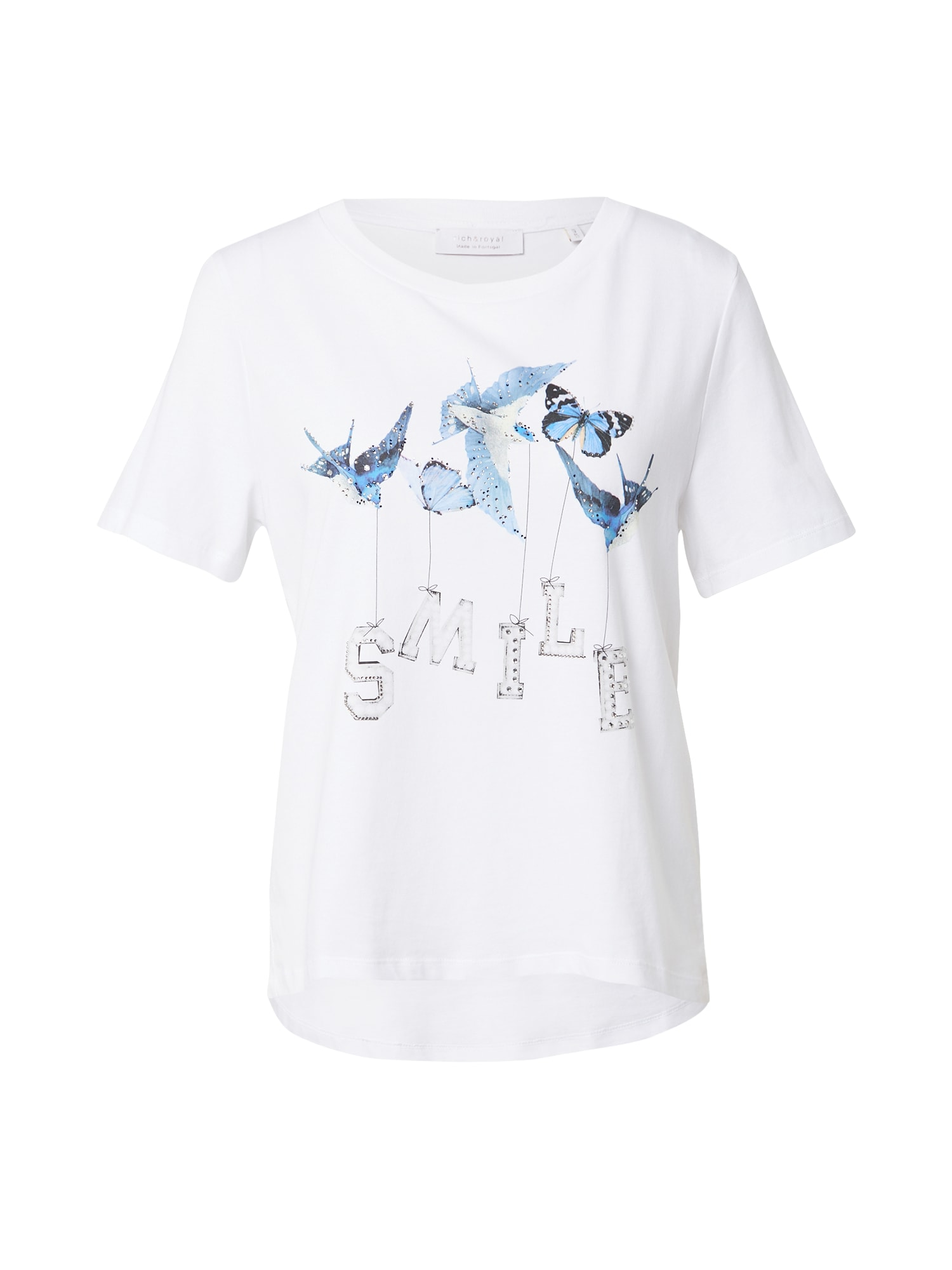Rich & Royal Marškinėliai balta / mėlyna / kobalto mėlyna / juoda / šviesiai pilka