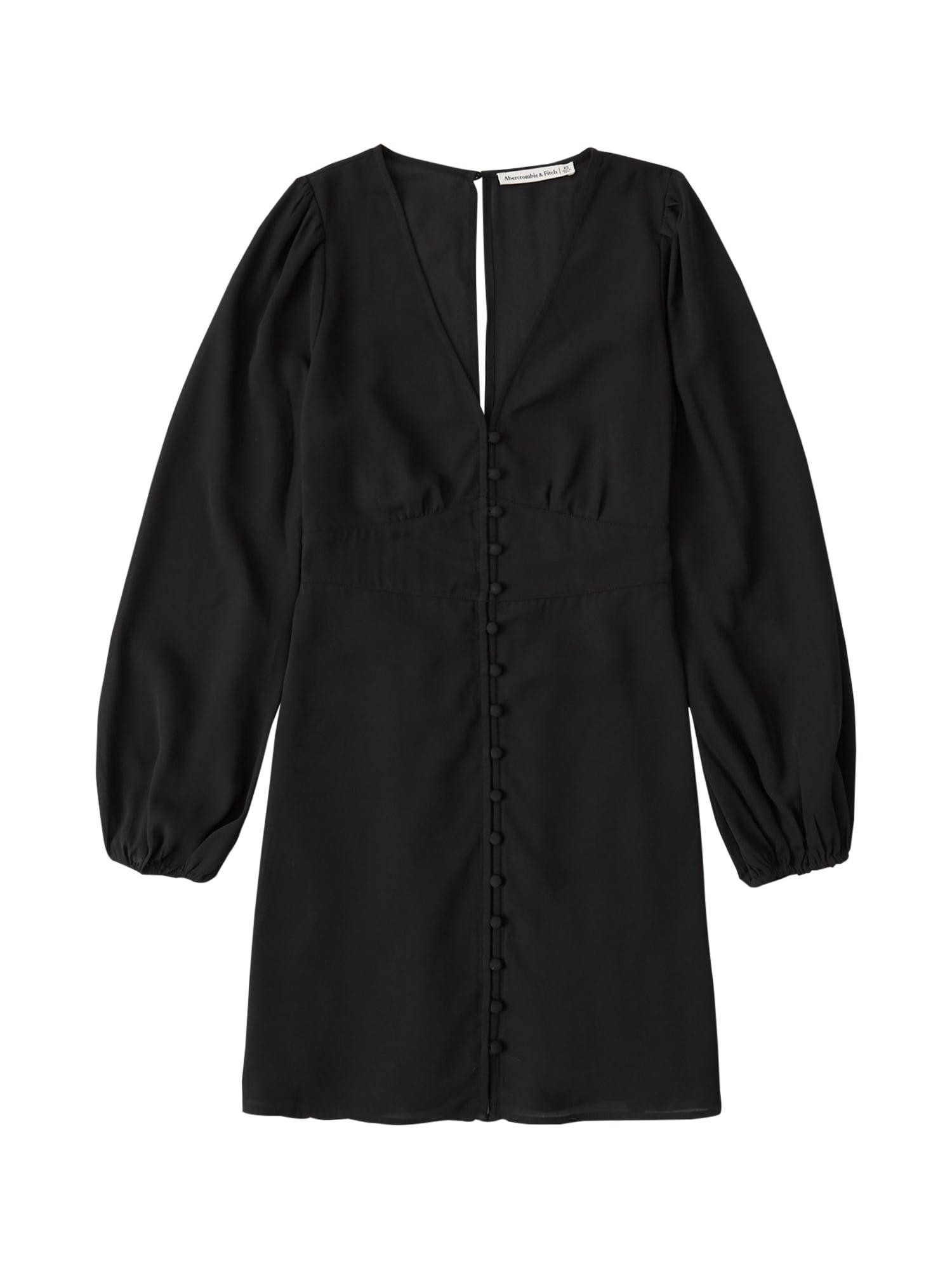 Abercrombie & Fitch Košilové šaty  černá