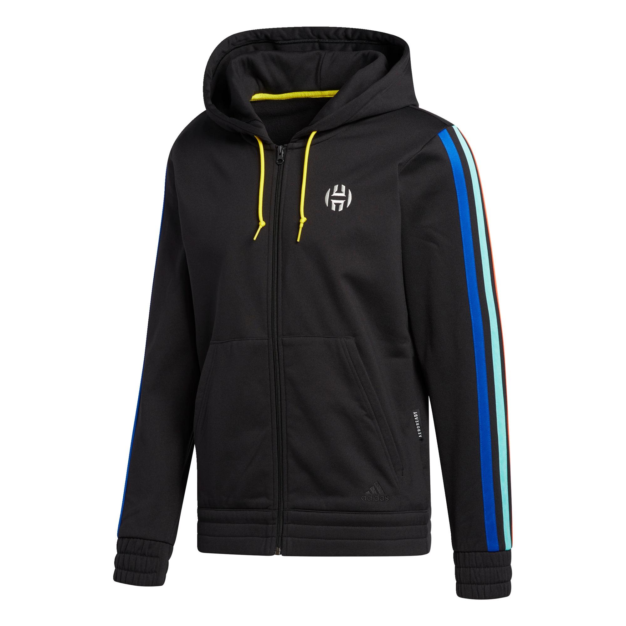 ADIDAS PERFORMANCE Sportinis džemperis juoda / mėlyna / balta