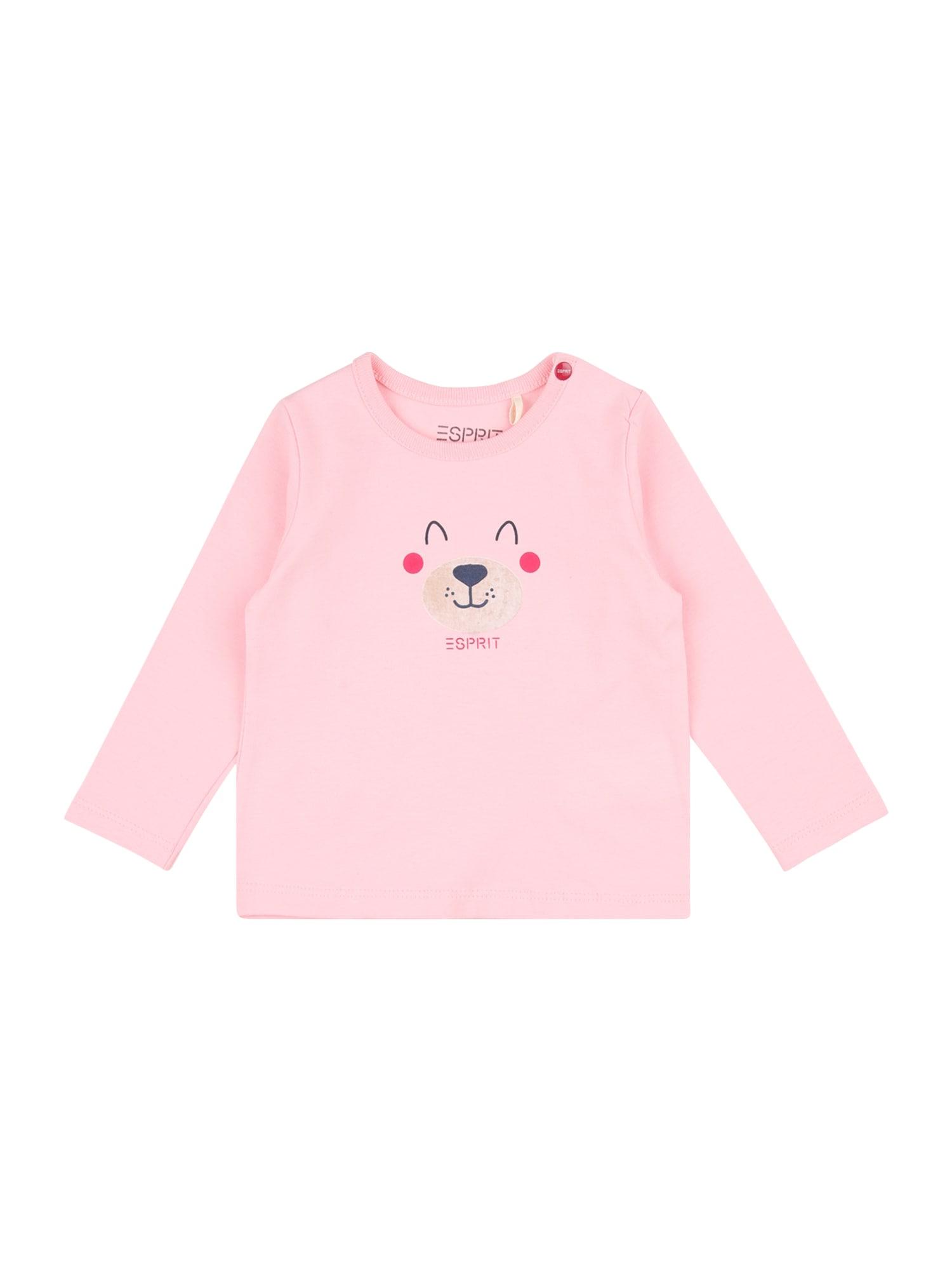 ESPRIT Marškinėliai rožių spalva / rožinė / tamsiai mėlyna jūros spalva / smėlio