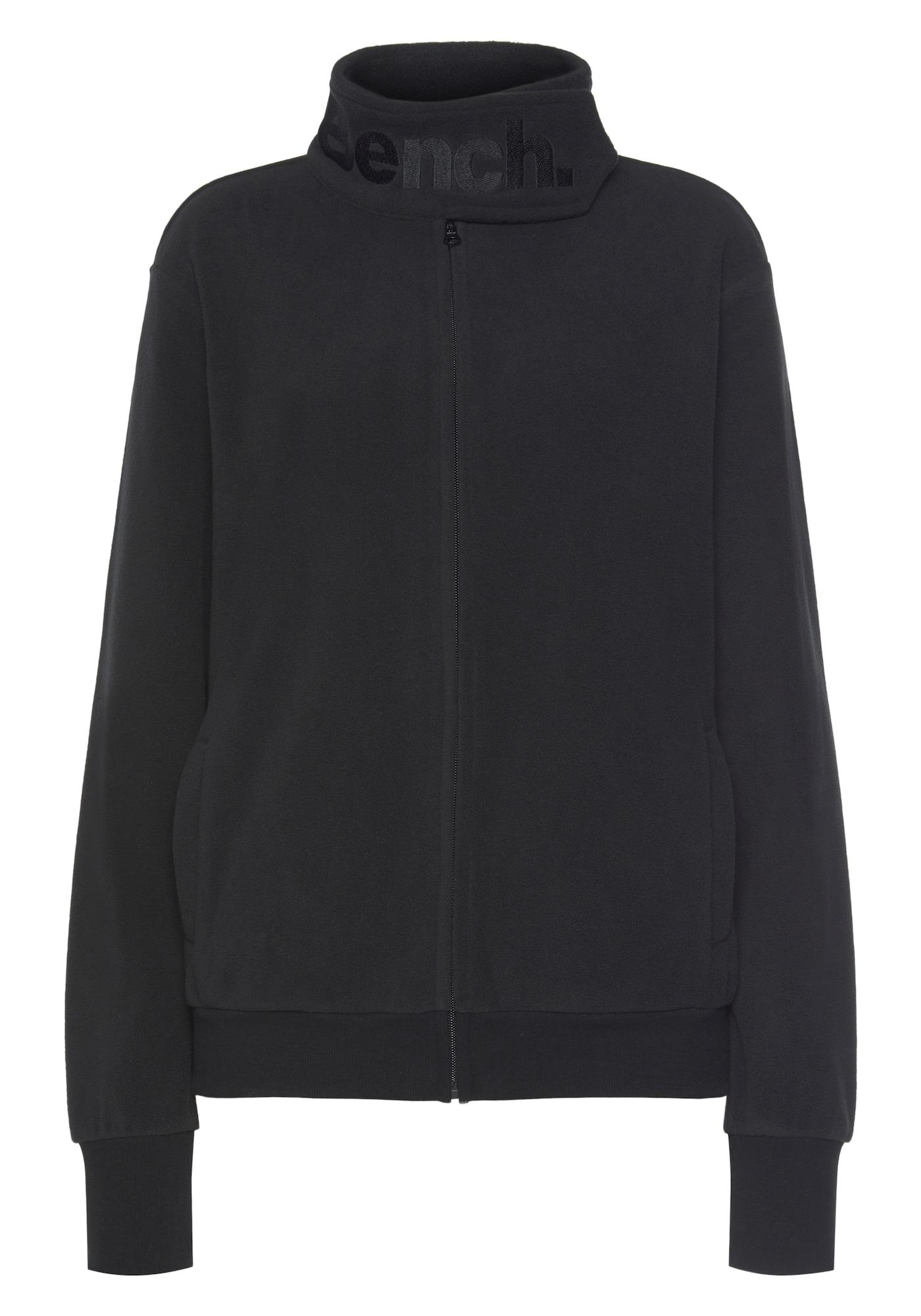 BENCH Flisinis džemperis juoda