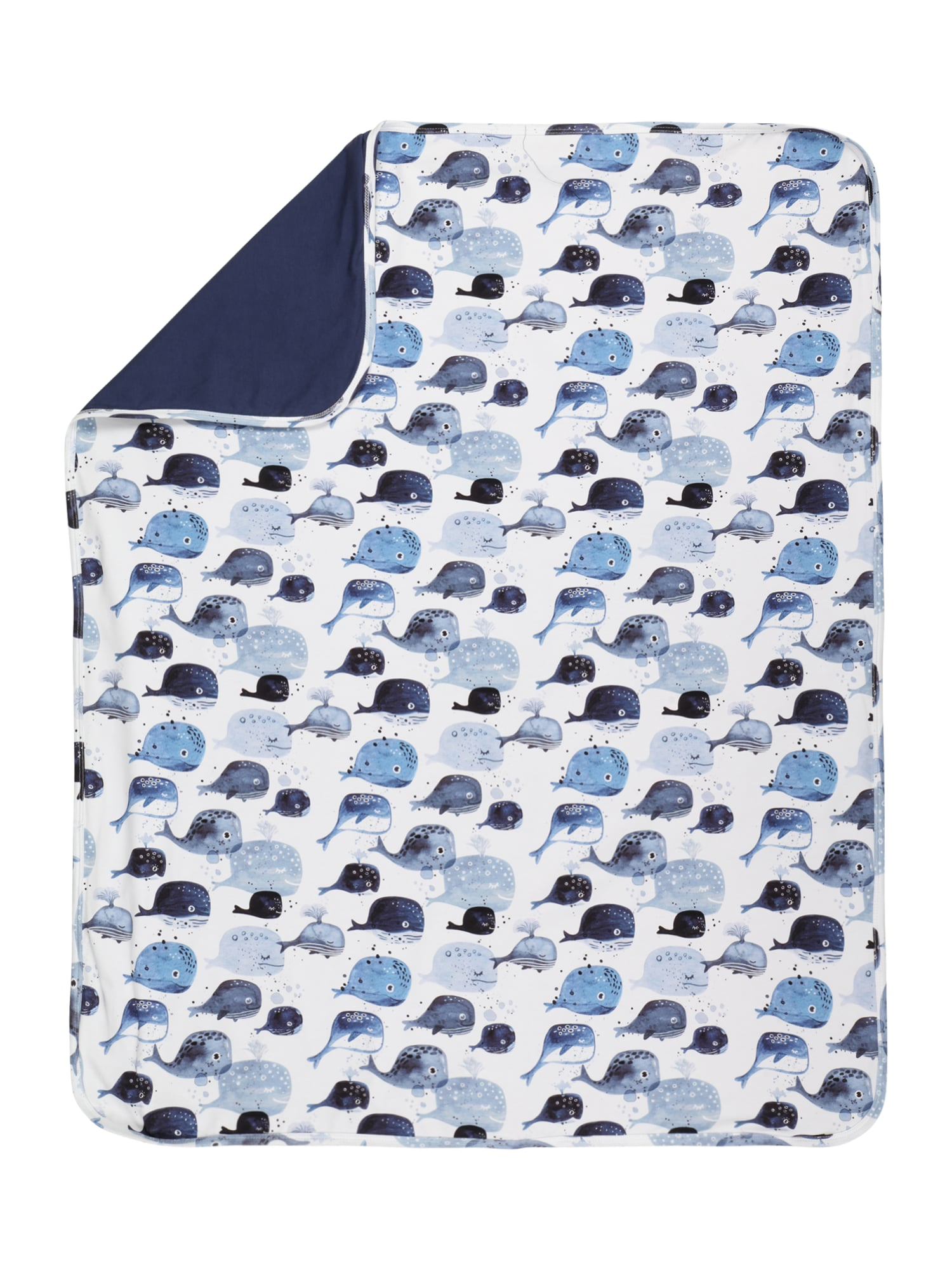 Walkiddy Kūdikio antklodė balta / šviesiai mėlyna / tamsiai mėlyna / mėlyna dūmų spalva