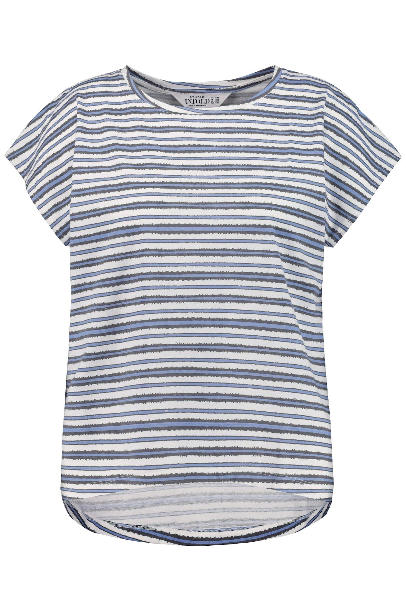 Studio Untold Marškinėliai melsvai pilka / azuro spalva / mėlyna dūmų spalva