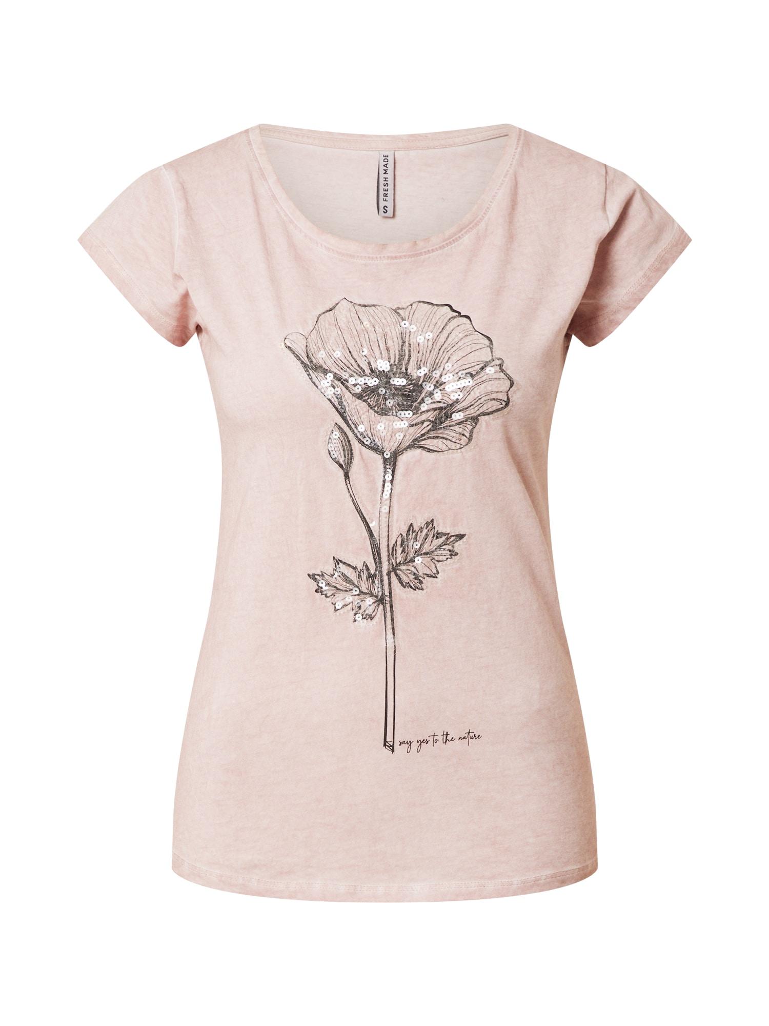 Sublevel Marškinėliai rožinė / tamsiai pilka