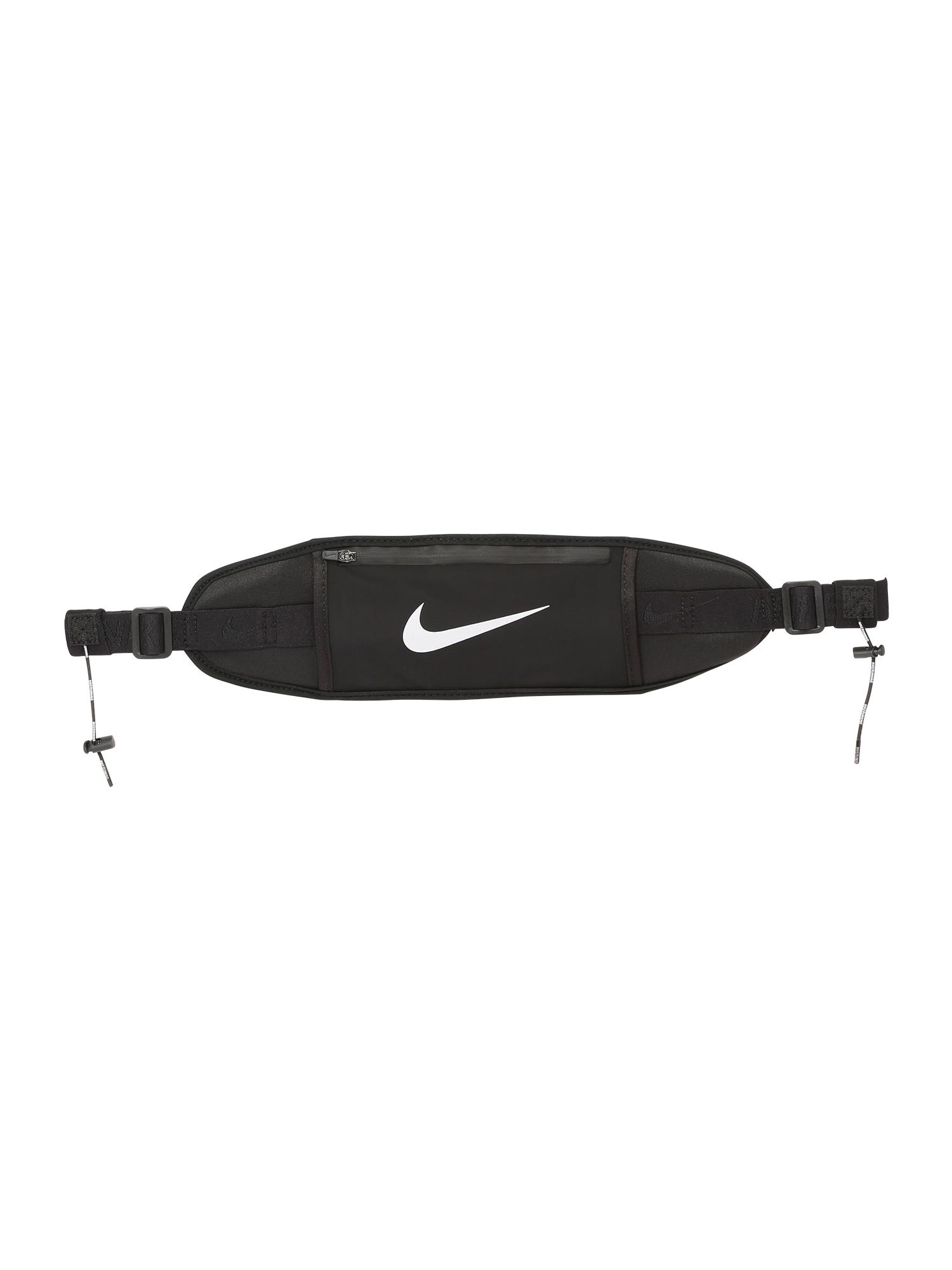 NIKE Accessoires Sportinė rankinė ant juosmens juoda / balta