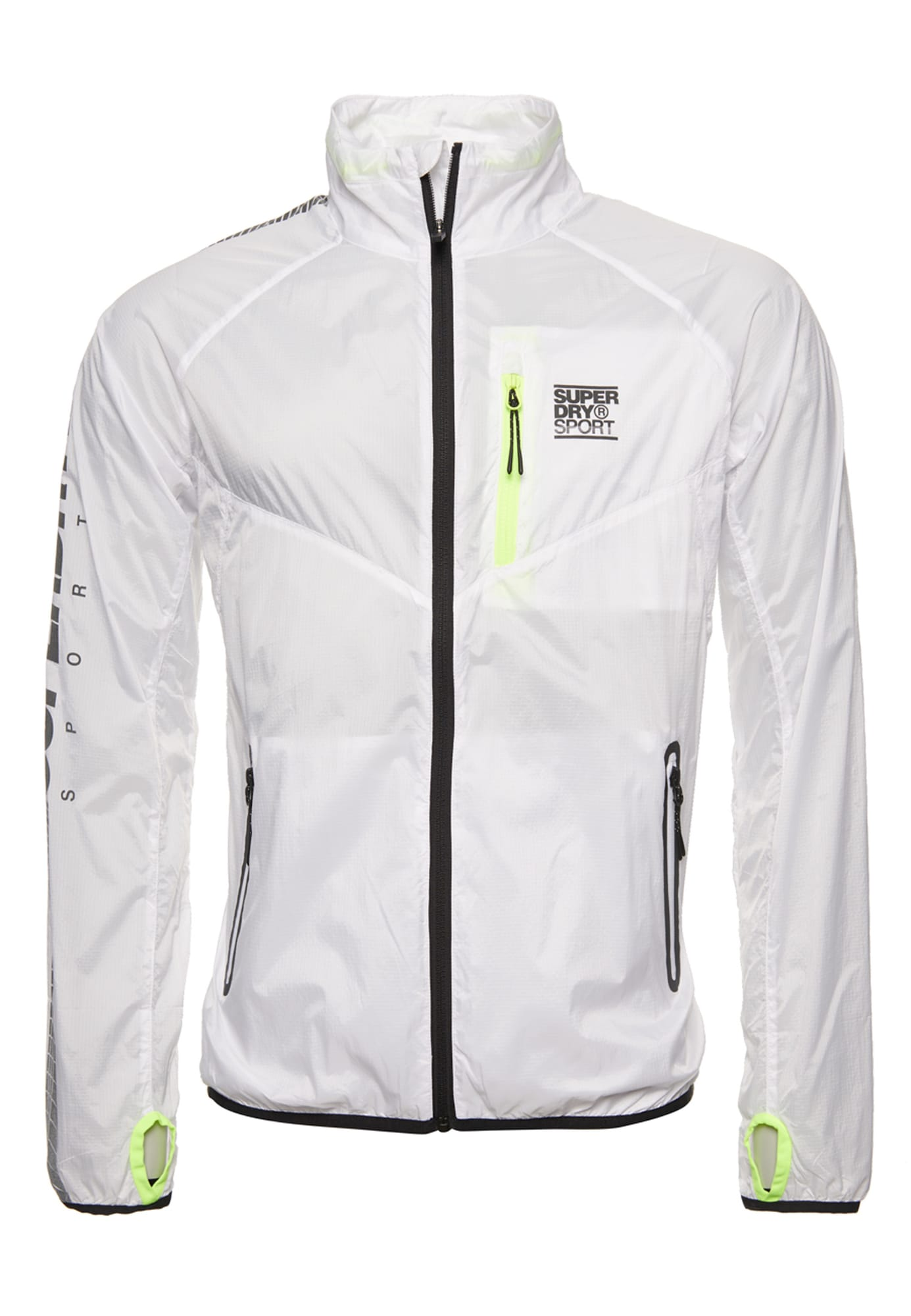 Superdry Sportinė striukė 'TRAINING LIGHTWEIGHT JACKET' balta