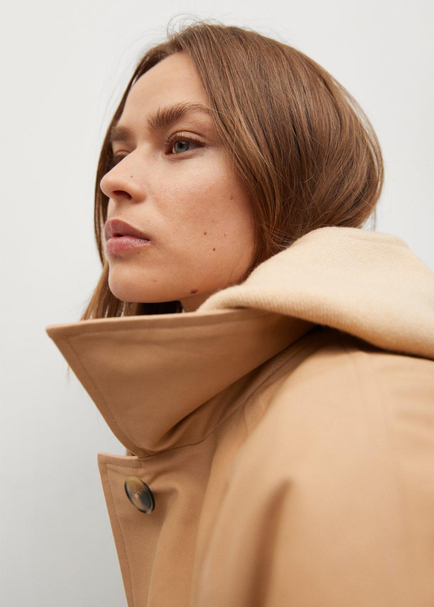 MANGO Prechodný kabát 'Clack'  svetlobéžová.