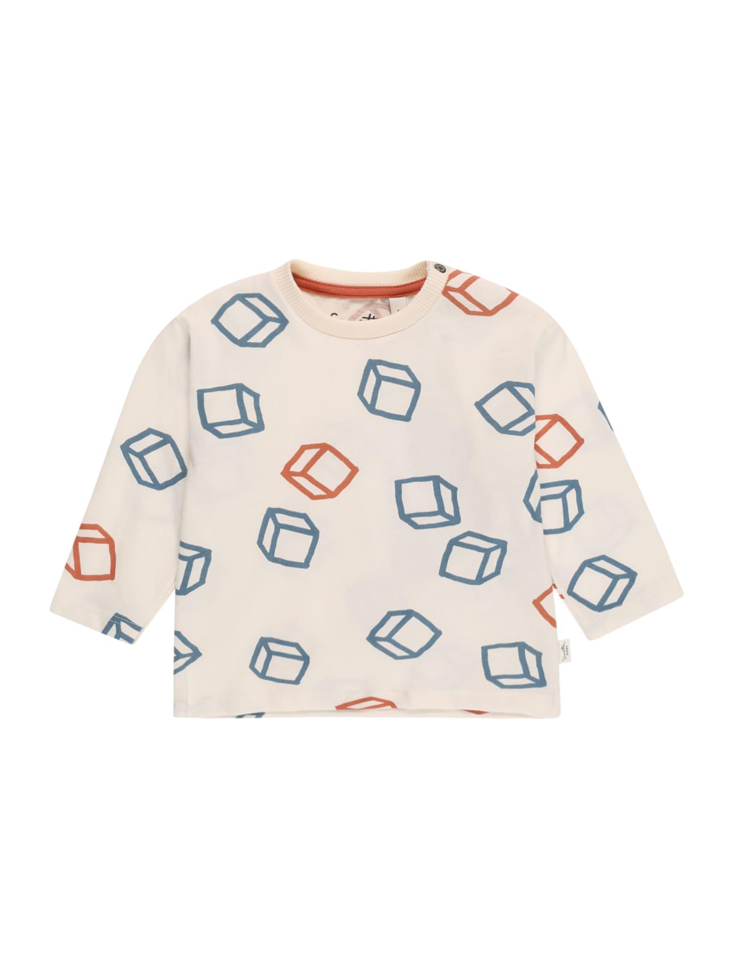 Sanetta Pure Marškinėliai natūrali balta / mėlyna / rūdžių raudona