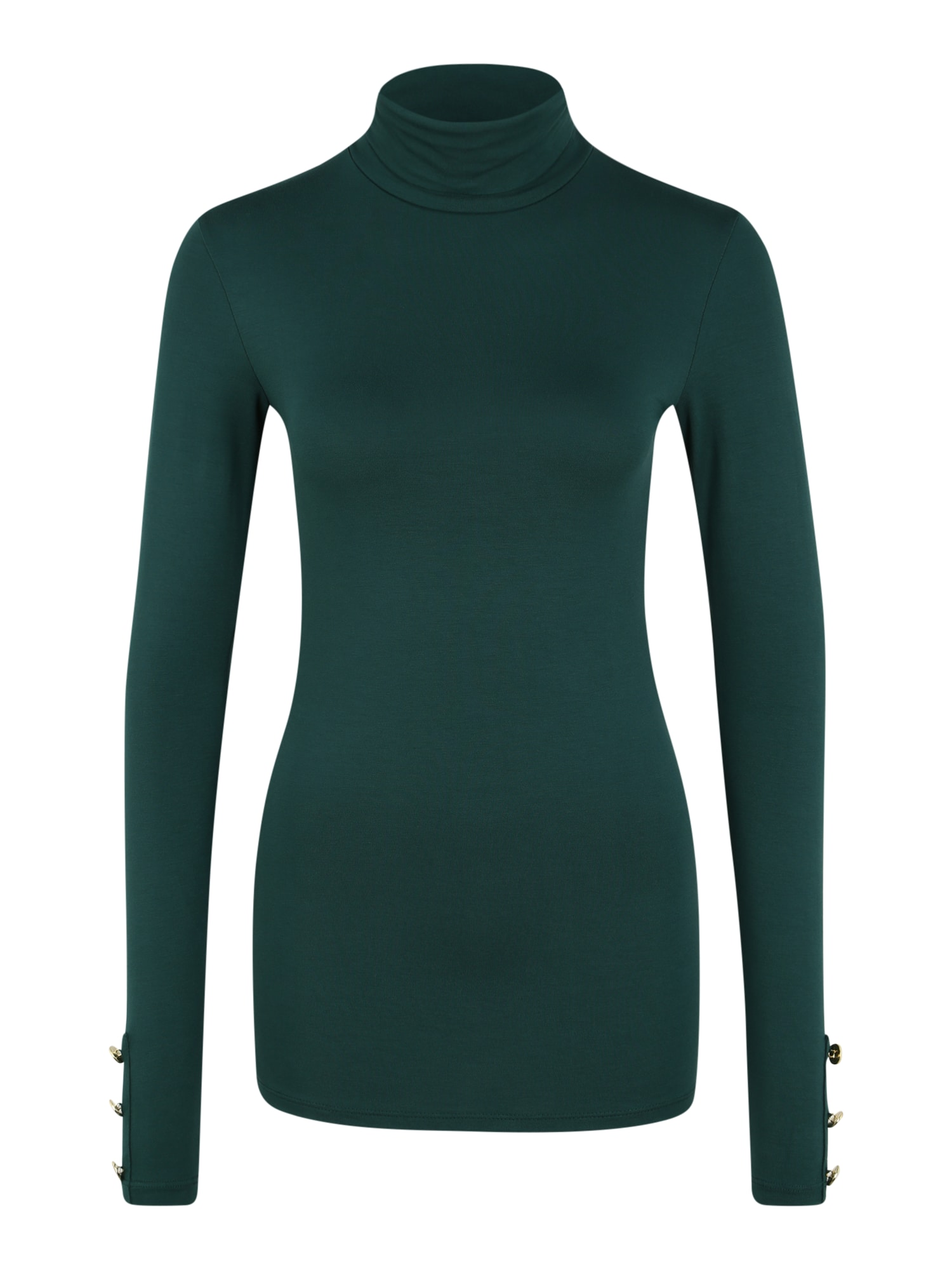 Dorothy Perkins (Tall) Tričko 'TALL FOREST GREEN VISCOSE ROLL NECK TOP'  zelená