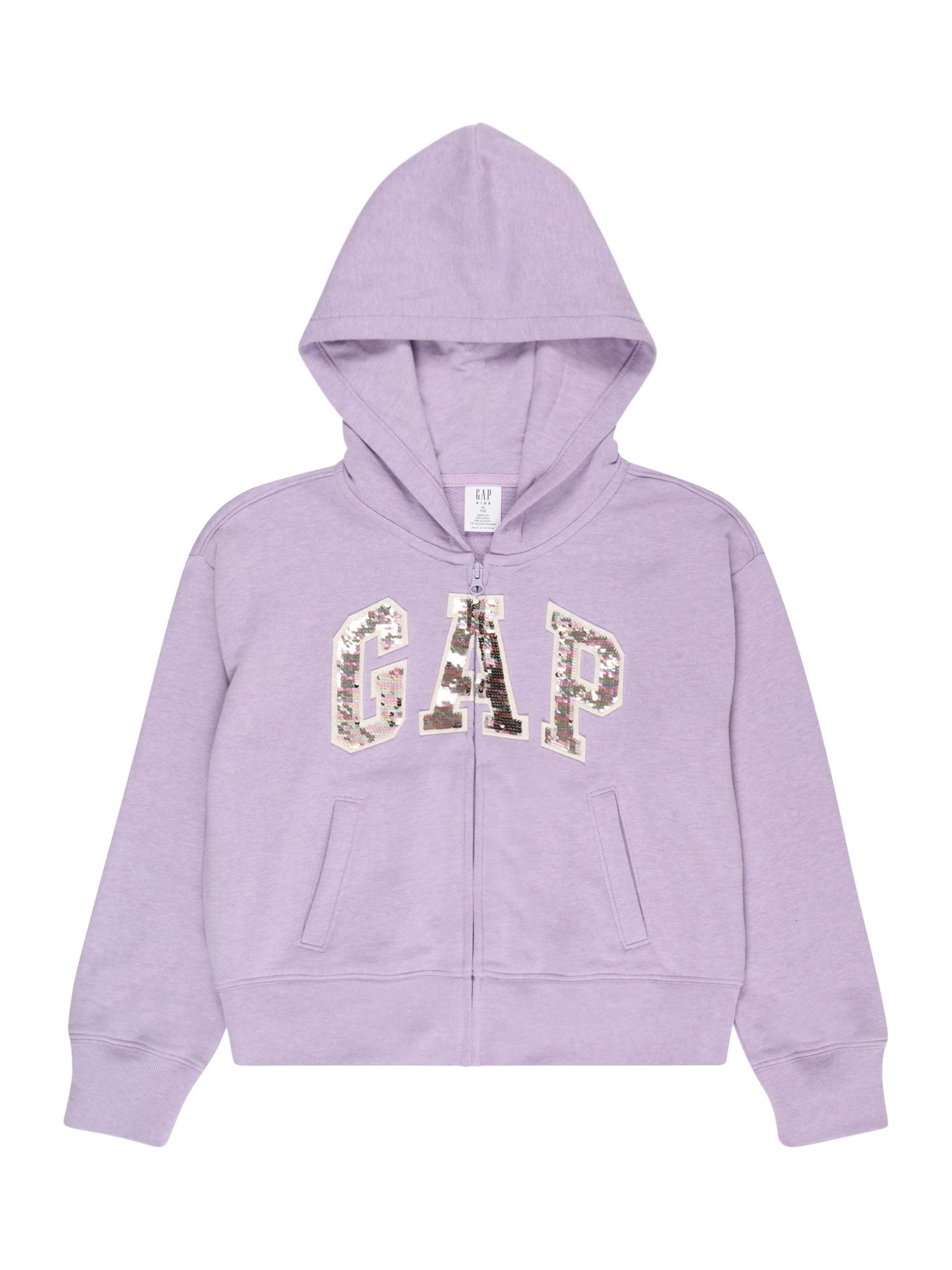 GAP Džemperis šviesiai violetinė / ryškiai rožinė spalva / pastelinė žalia