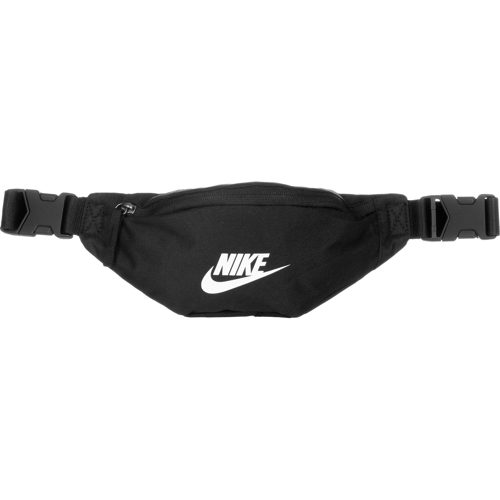 Nike Sportswear Rankinė ant juosmens 'Heritage' juoda / balta