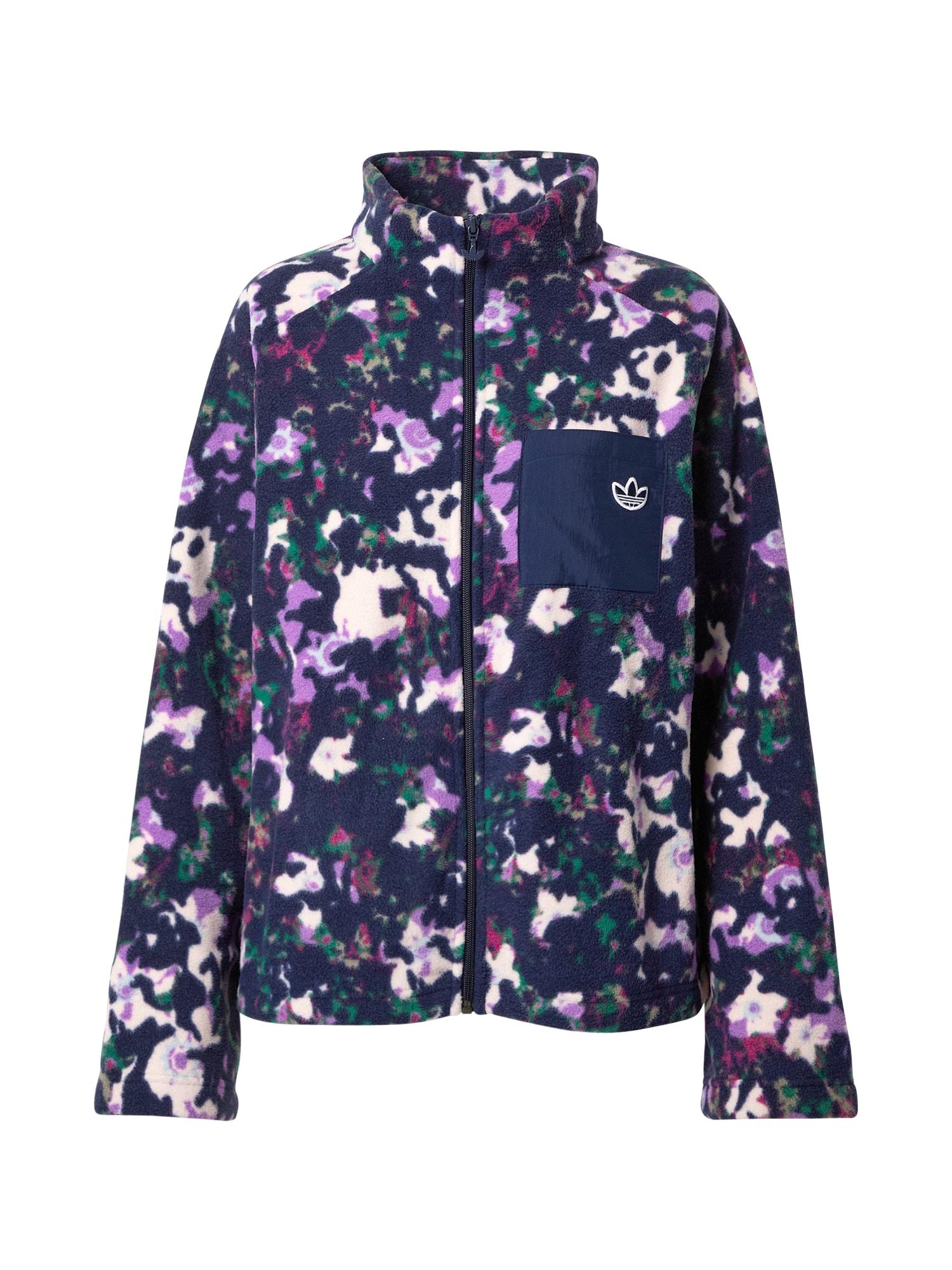 ADIDAS ORIGINALS Flisinis džemperis mišrios spalvos / tamsiai mėlyna