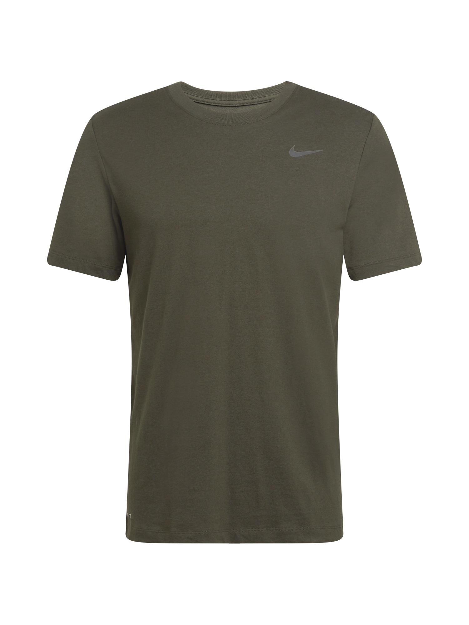 NIKE Funkční tričko  černá / olivová