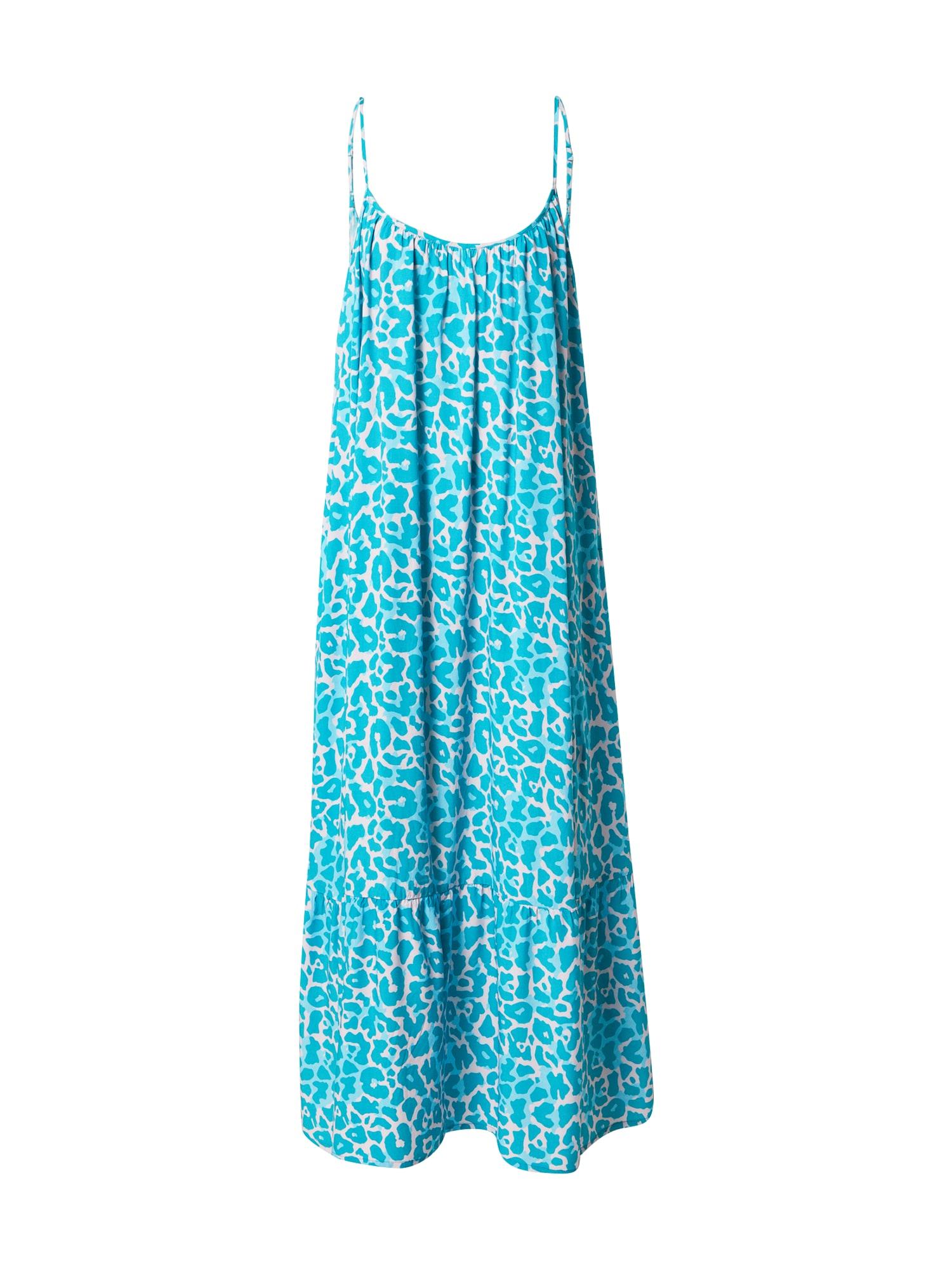 DELICATELOVE Vasarinė suknelė balkšva / turkio spalva