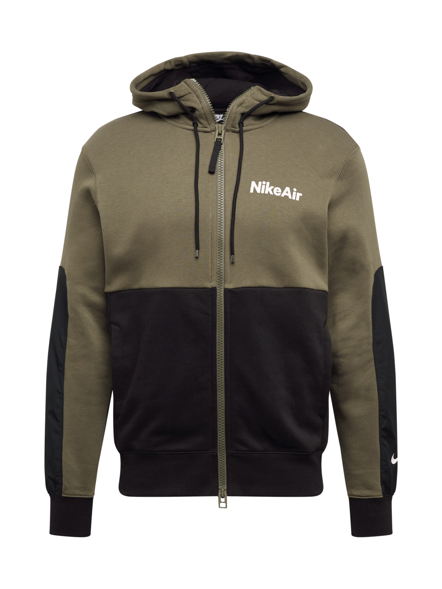 Nike Sportswear Mikina s kapucí 'Air'  bílá / olivová / černá