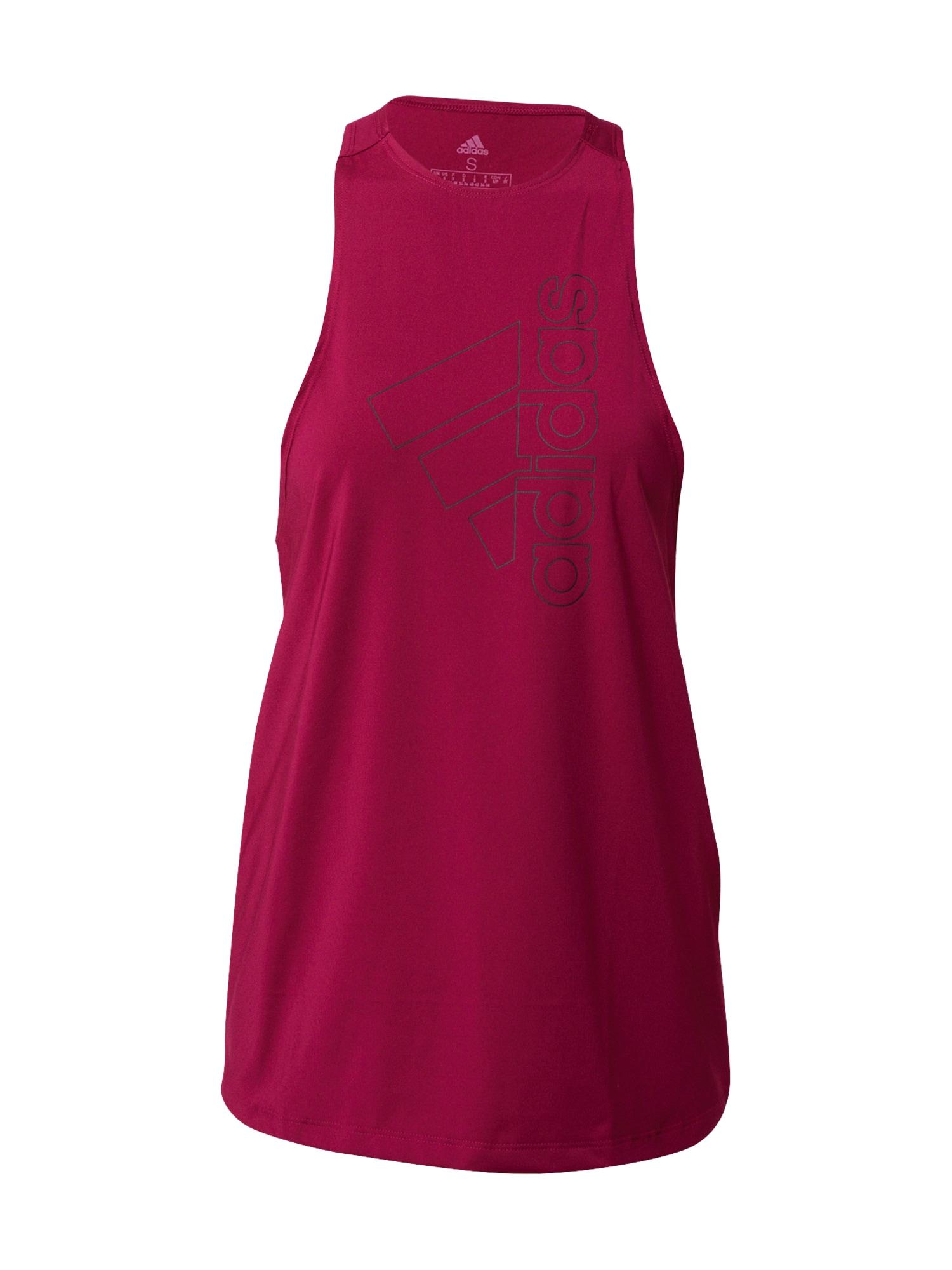 ADIDAS PERFORMANCE Sportiniai marškinėliai be rankovių eozino spalva / nakties mėlyna