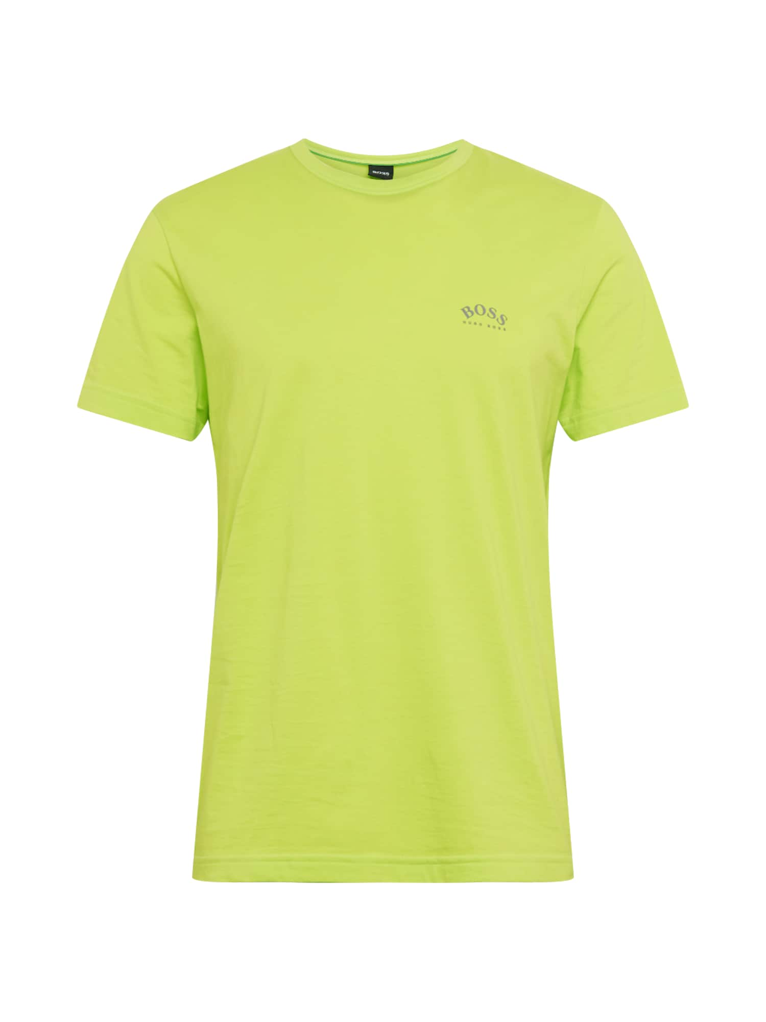 BOSS ATHLEISURE Marškinėliai neoninė žalia
