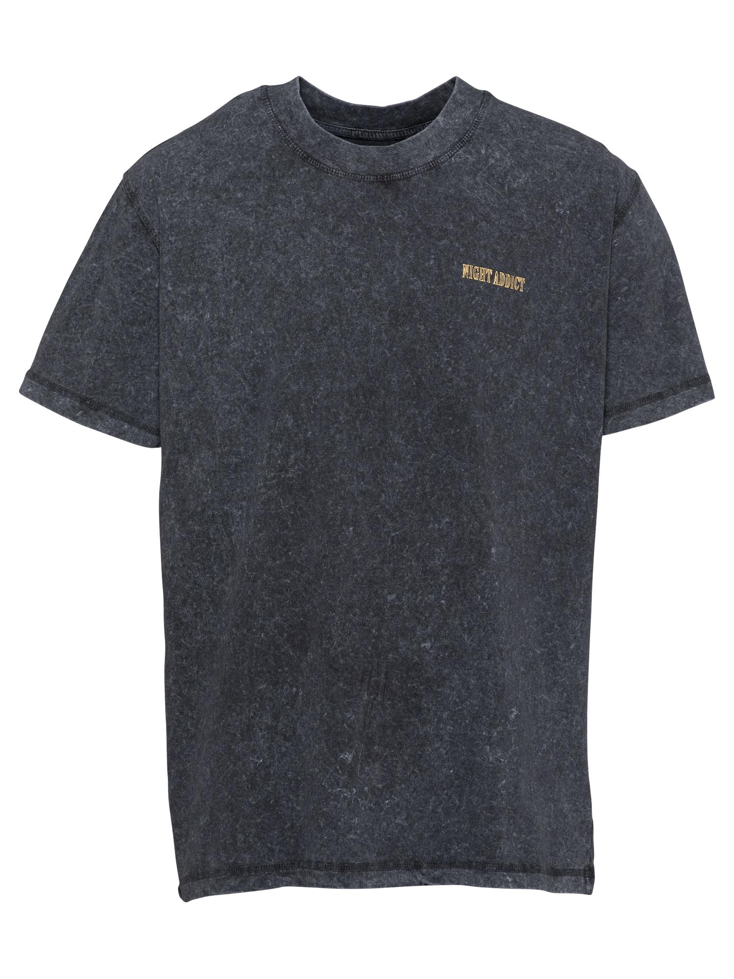 Night Addict Marškinėliai tamsiai pilka / šviesiai geltona / balta