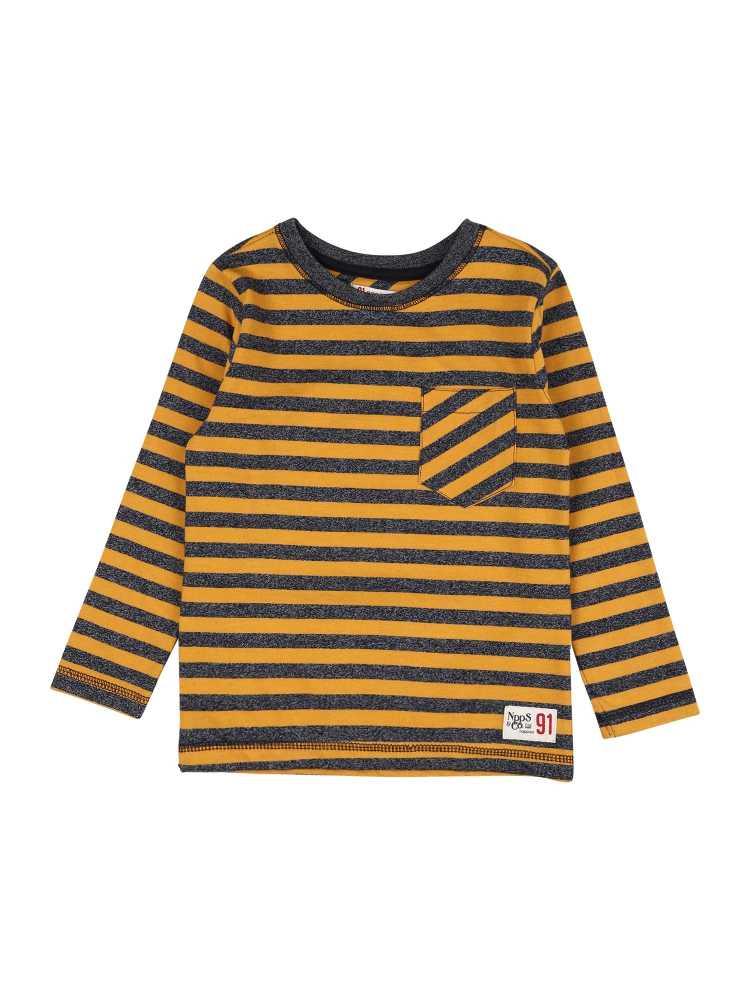 Noppies Tričko 'Norvalspond'  černá / zlatě žlutá / tmavě šedá