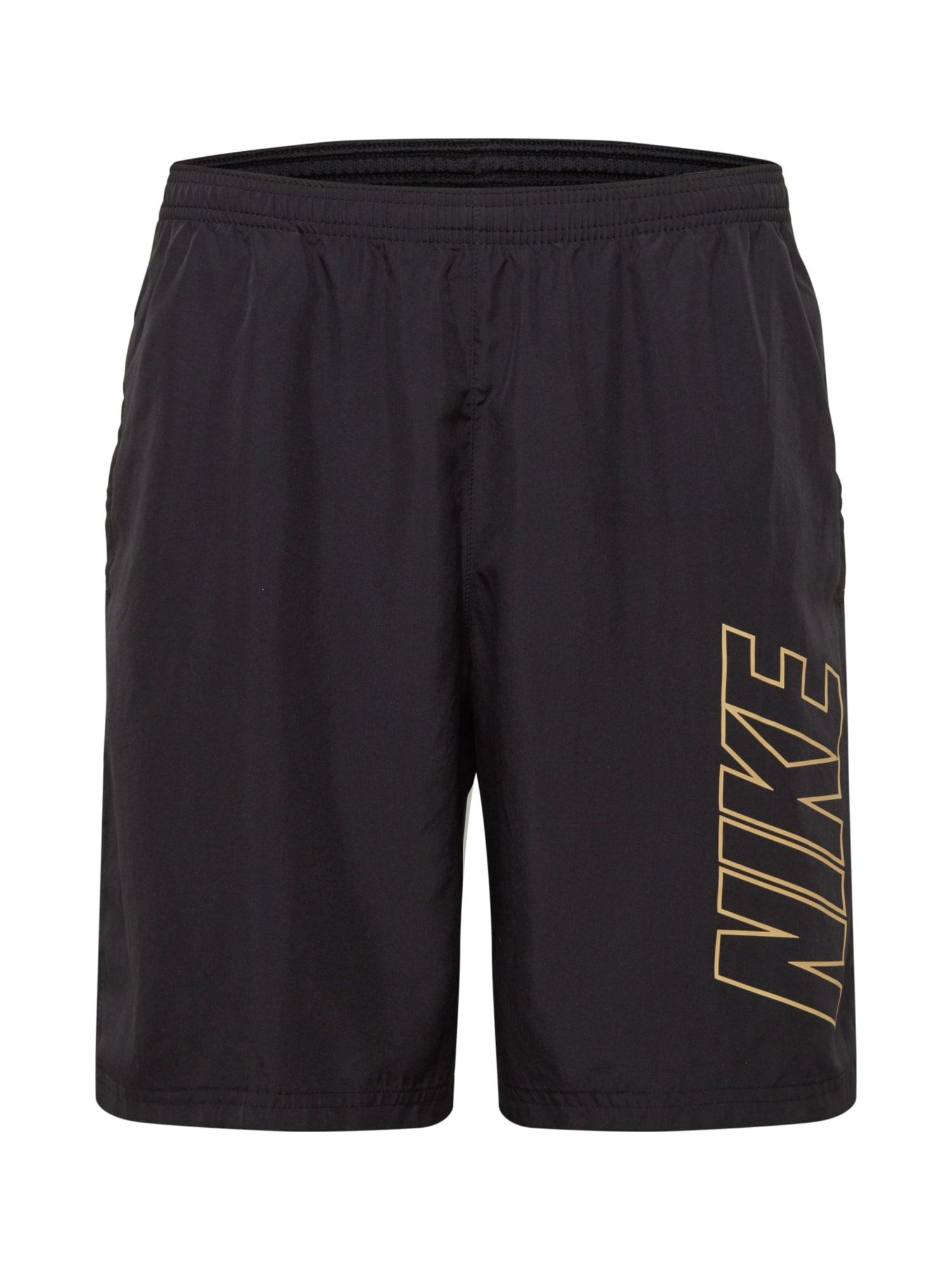 NIKE Sportovní kalhoty  zlatá / černá