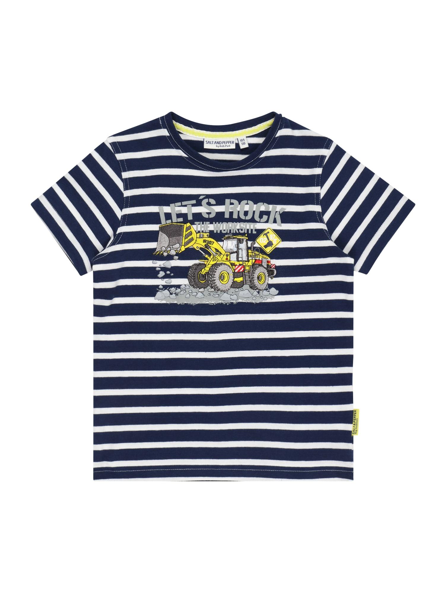 SALT AND PEPPER Marškinėliai tamsiai mėlyna / balta / dūmų pilka / žaliosios citrinos spalva / šviesiai raudona