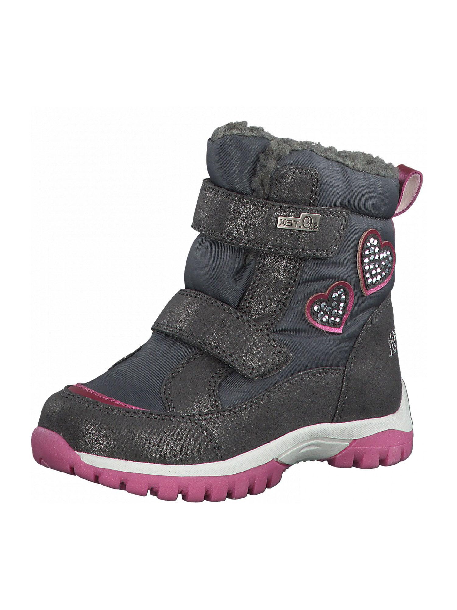 s.Oliver Junior Sniego batai pilka / tamsiai rožinė